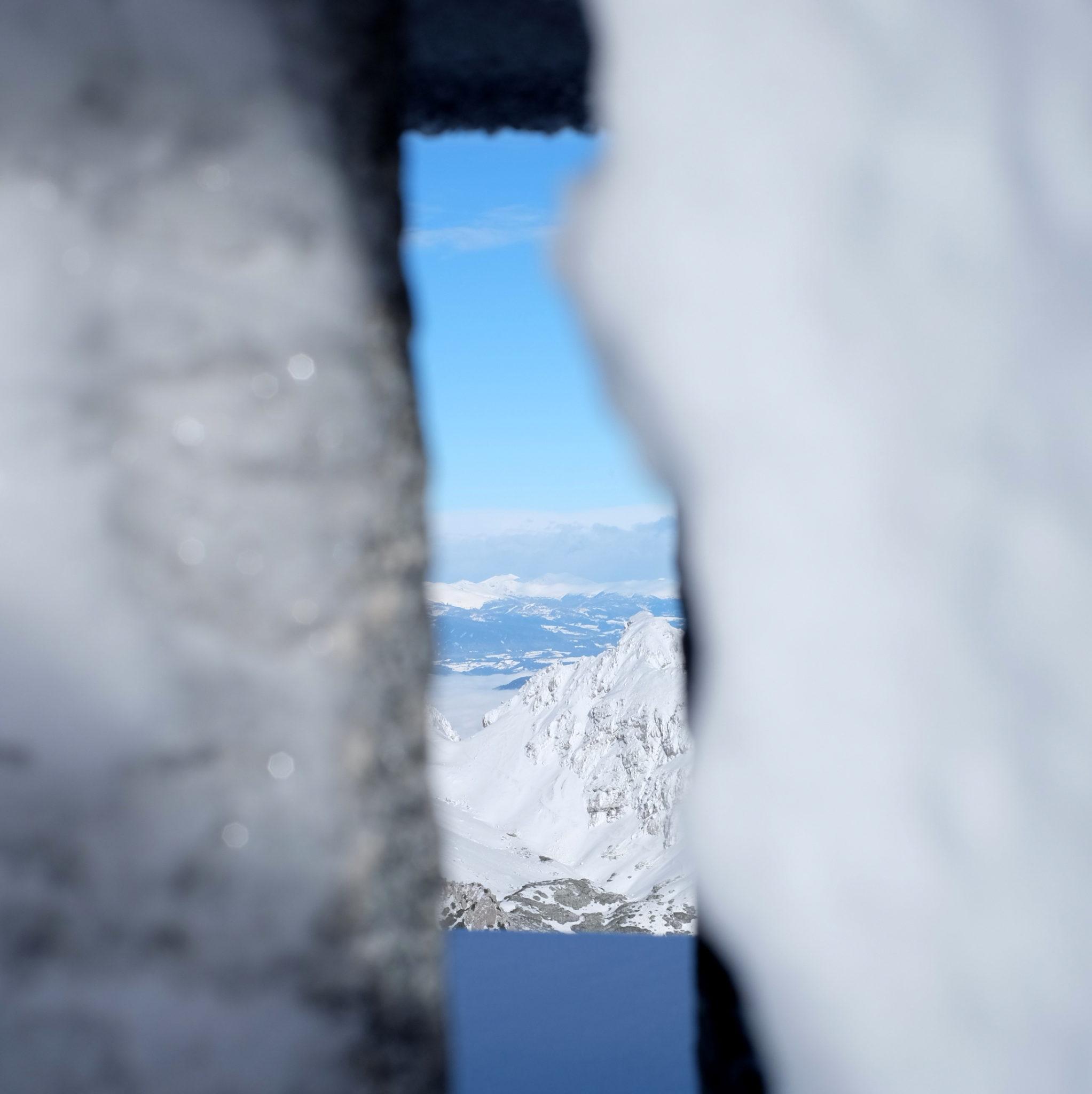 At the top of Mt. Begunjščica