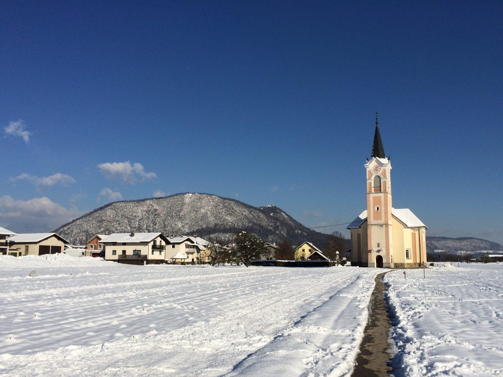 Šmarna gora (Smarna gora) seen from Stanezice.