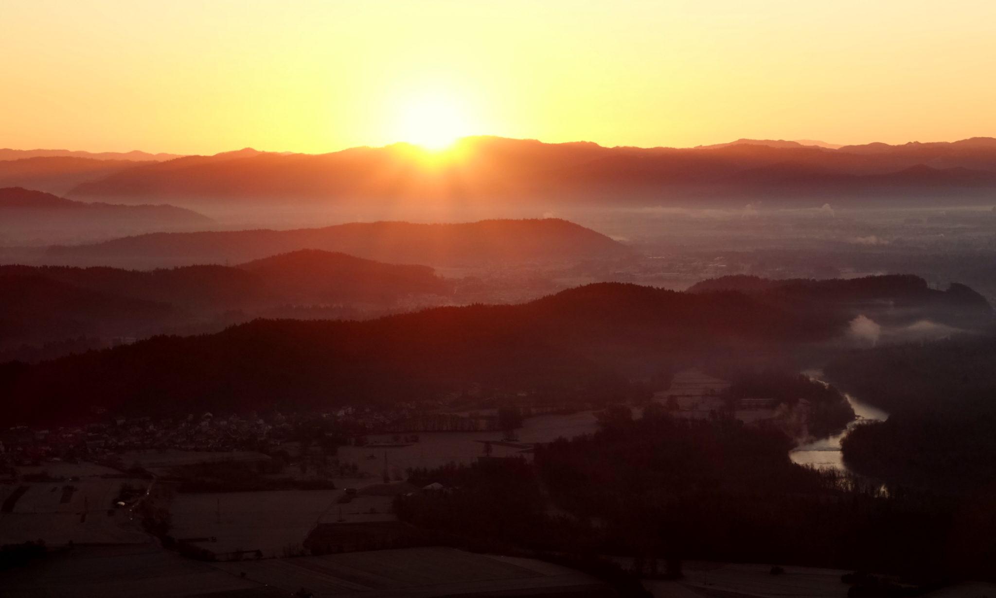 Sunrise on Šmarna gora