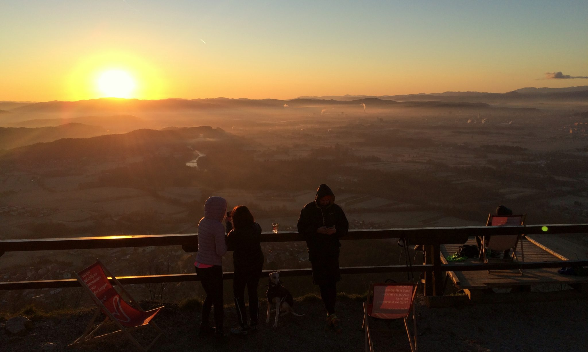 Sunrise hunters on Šmarna gora