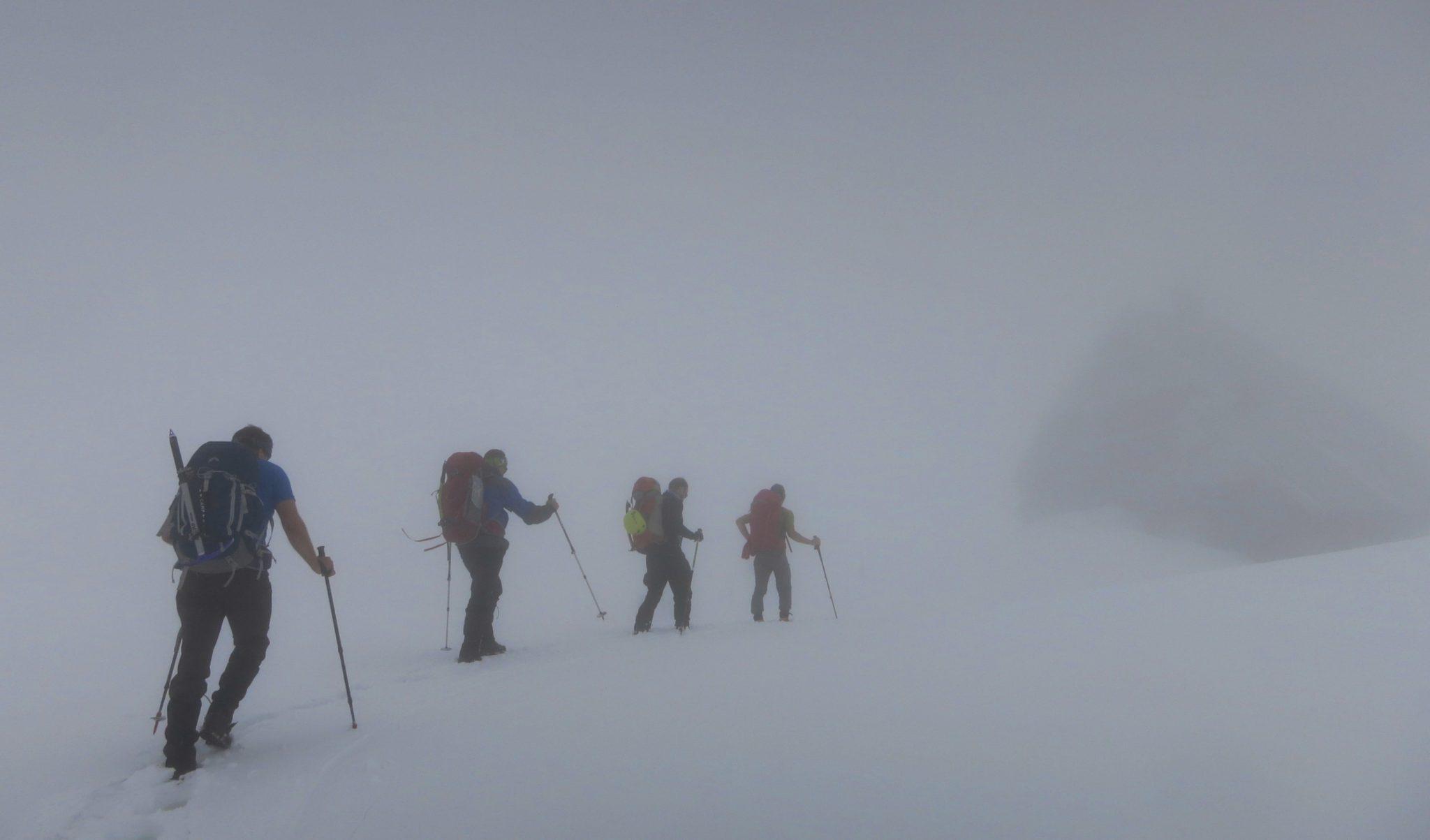 Ascending towards Kredarica and Triglav.