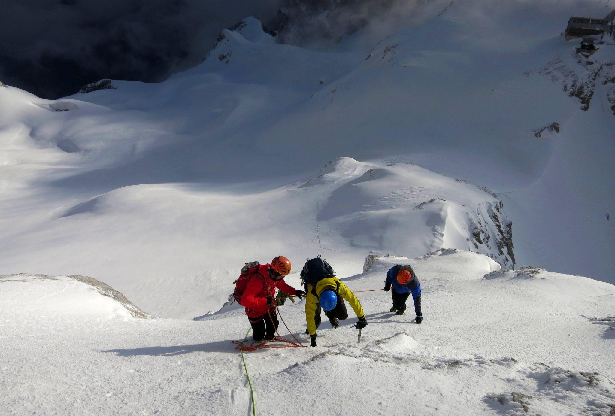 Climbing Triglav in January-like conditions.