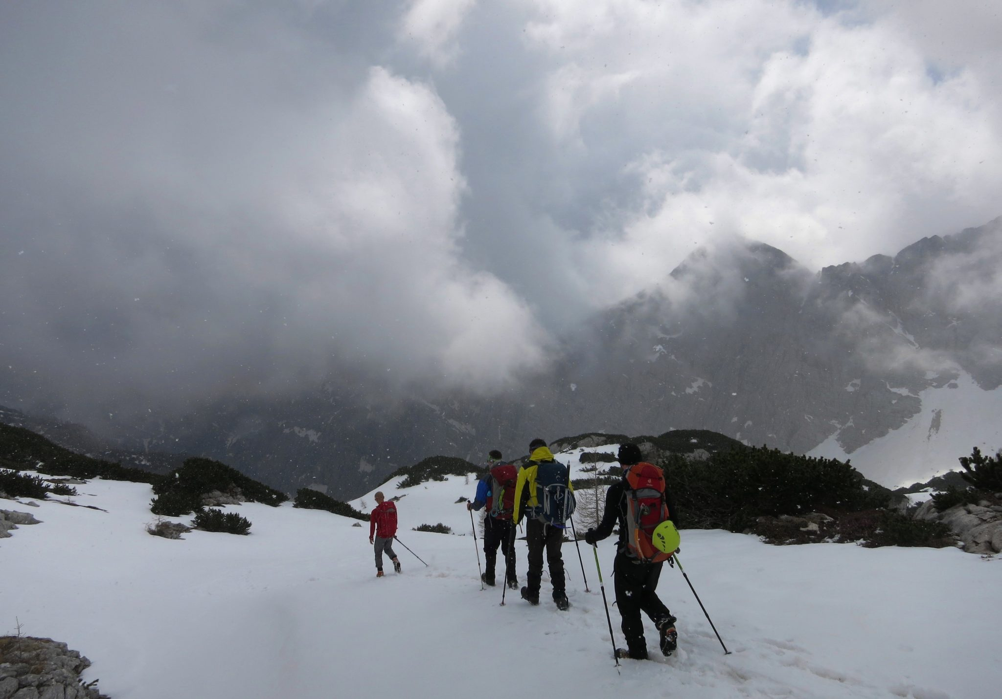 Going back down from Triglav to Krma.