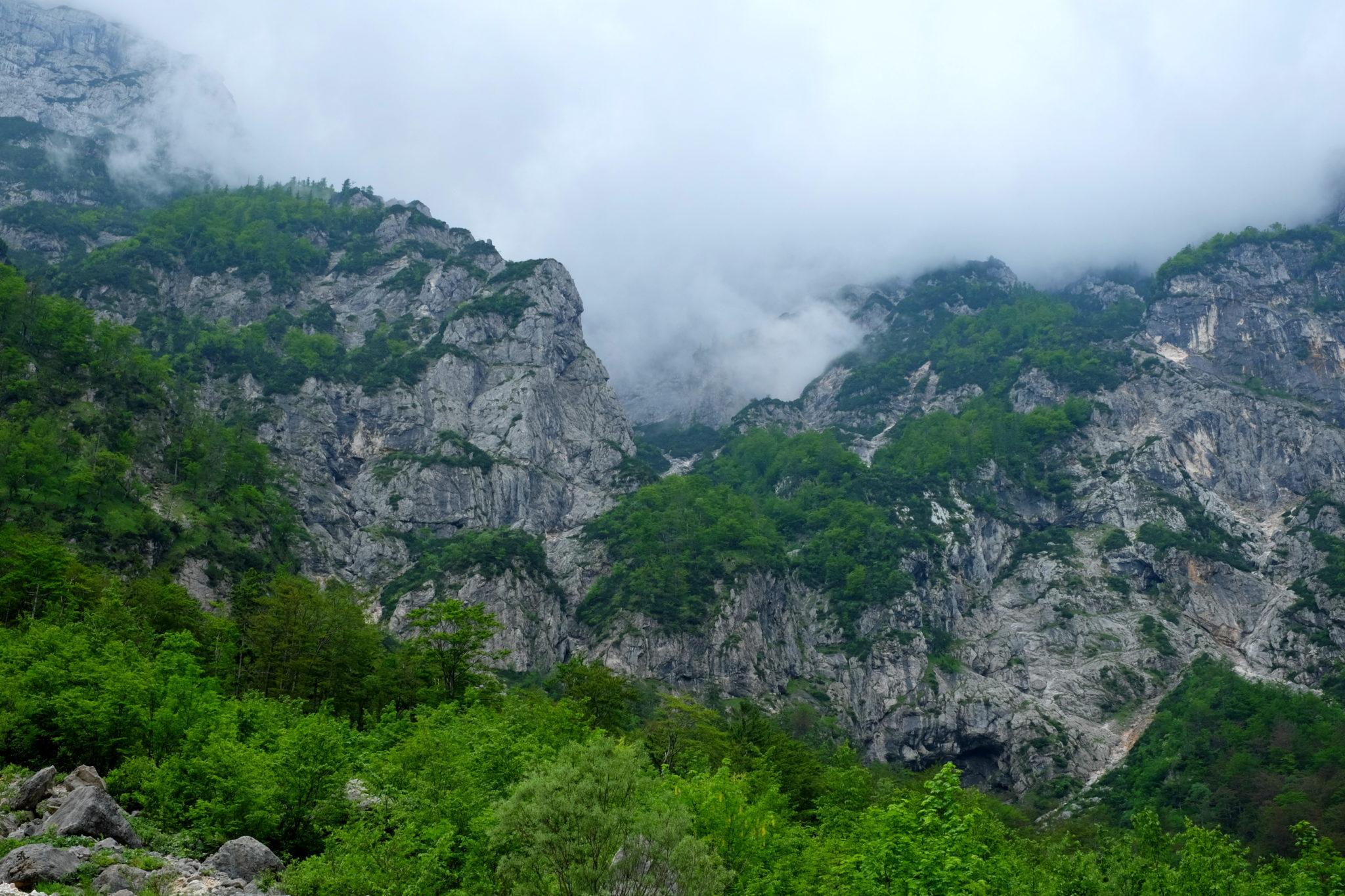 Below Mt. Koren and Mt. Kalški greben.