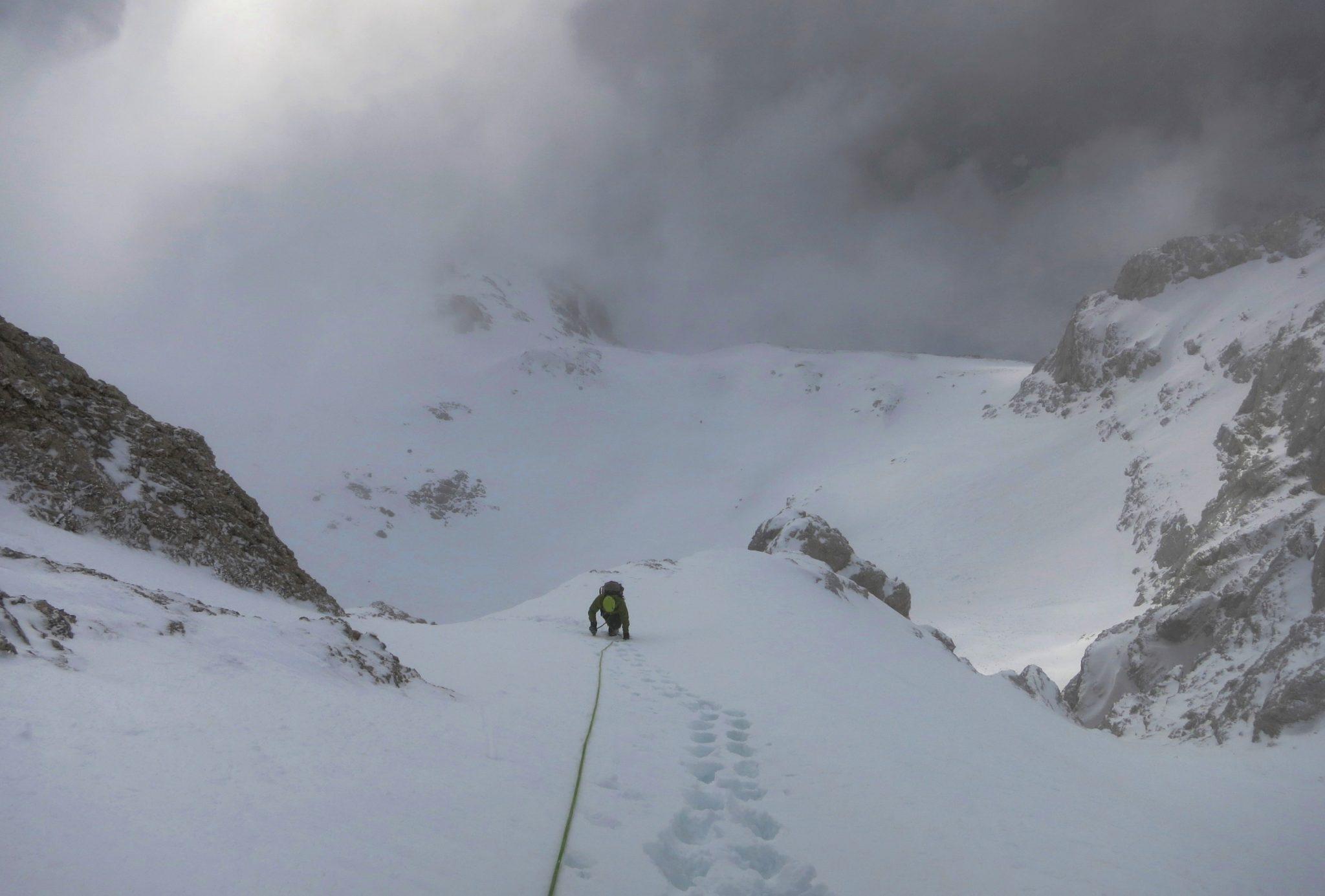 Climbing Triglav in winter