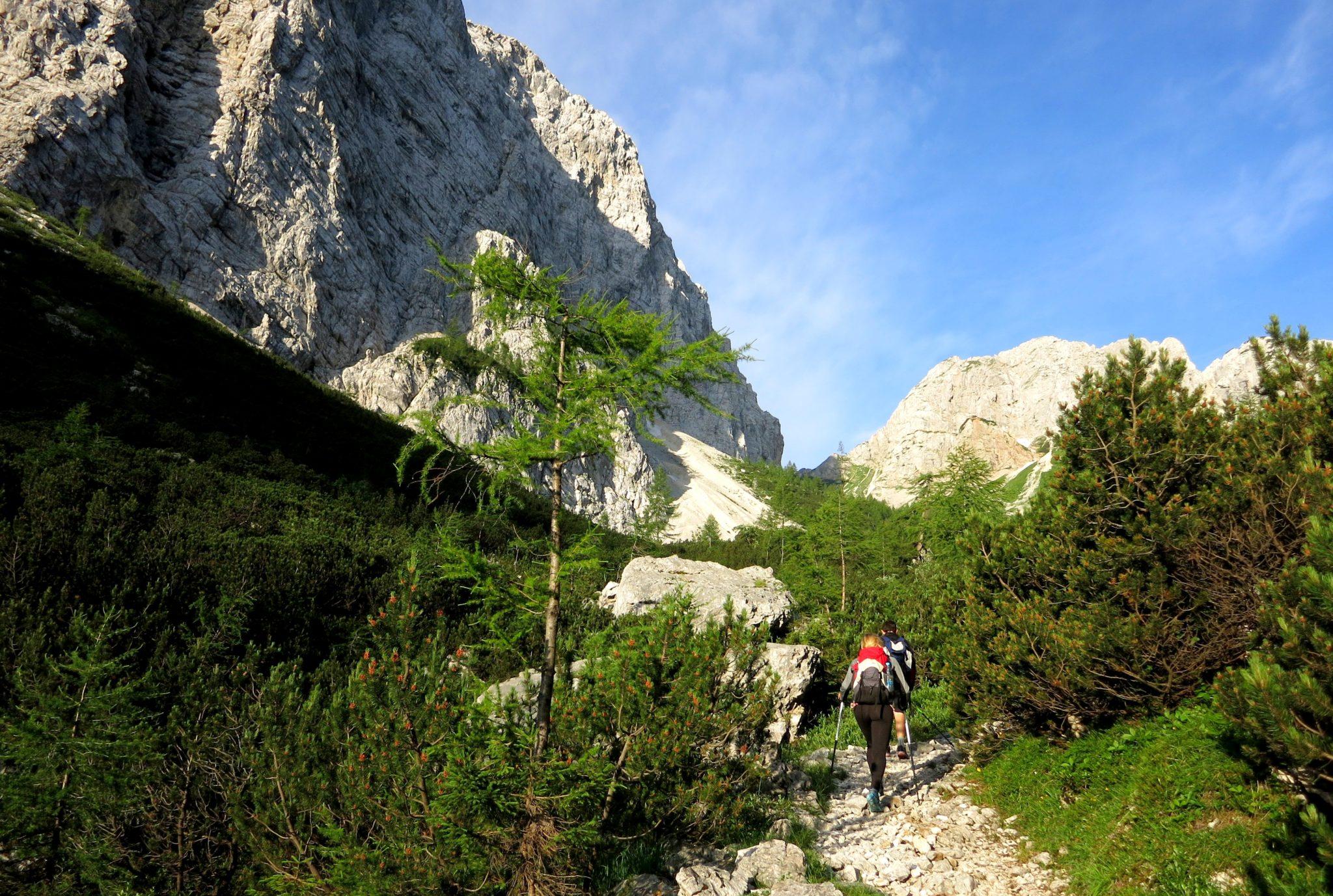 Climbing Triglav from the Krma valley
