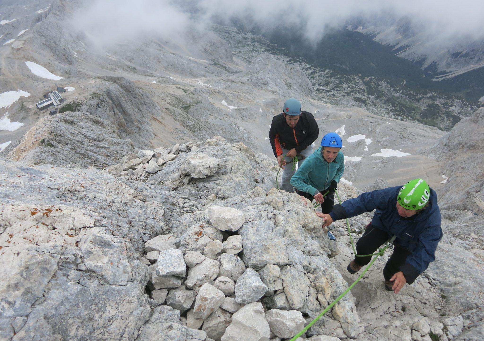 Climbing Triglav from the Planika mountain hut