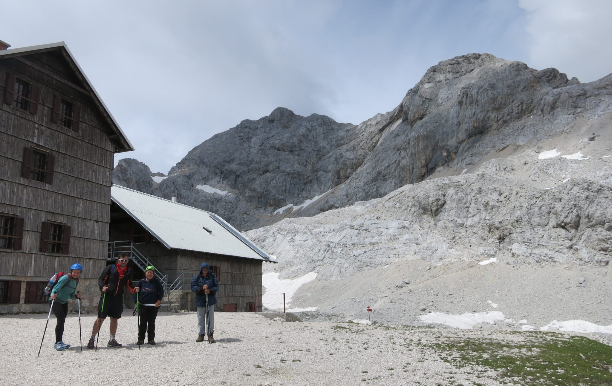 At the Planika mountain hut