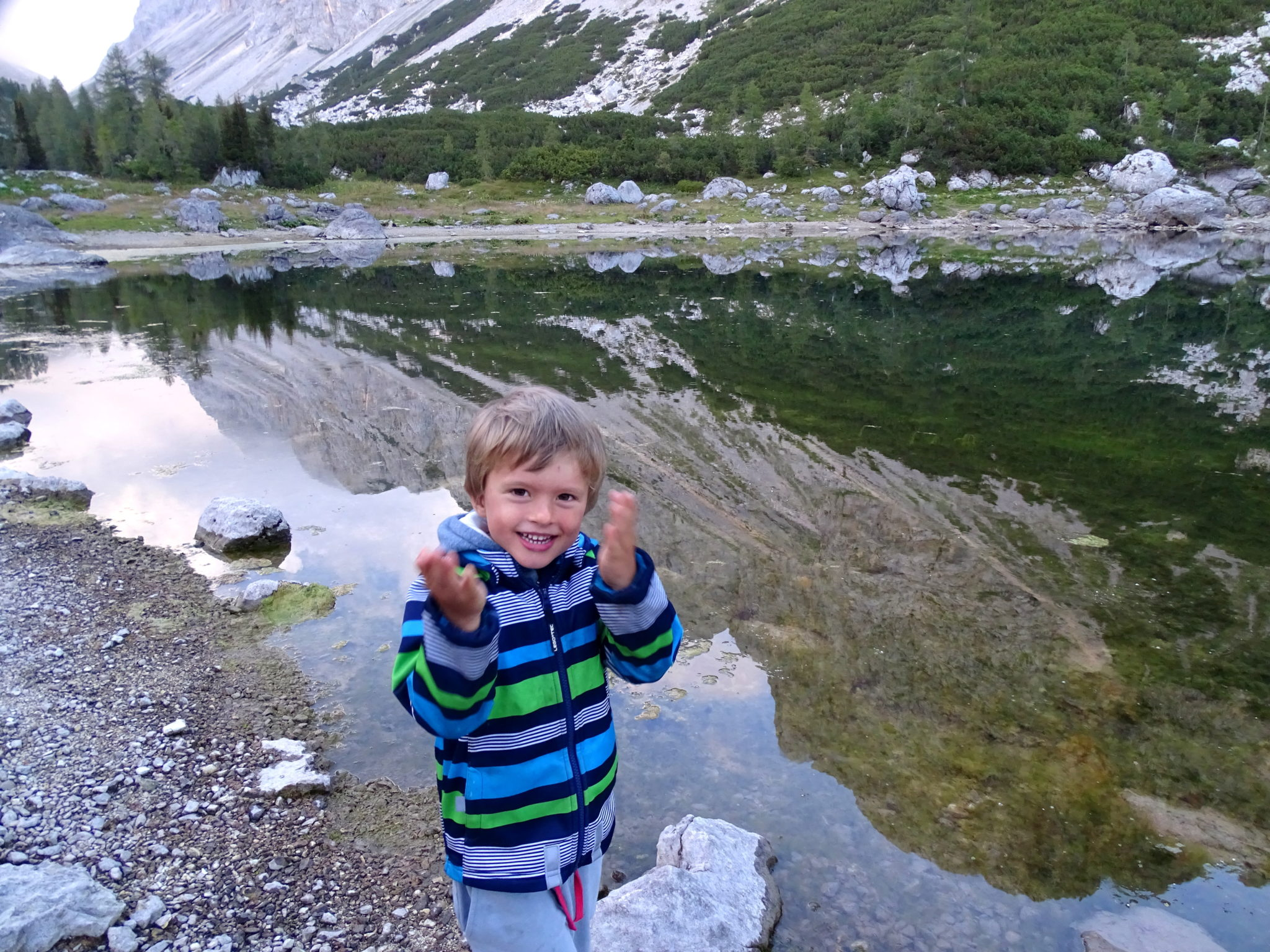 Hiking with kids; the Double Lake
