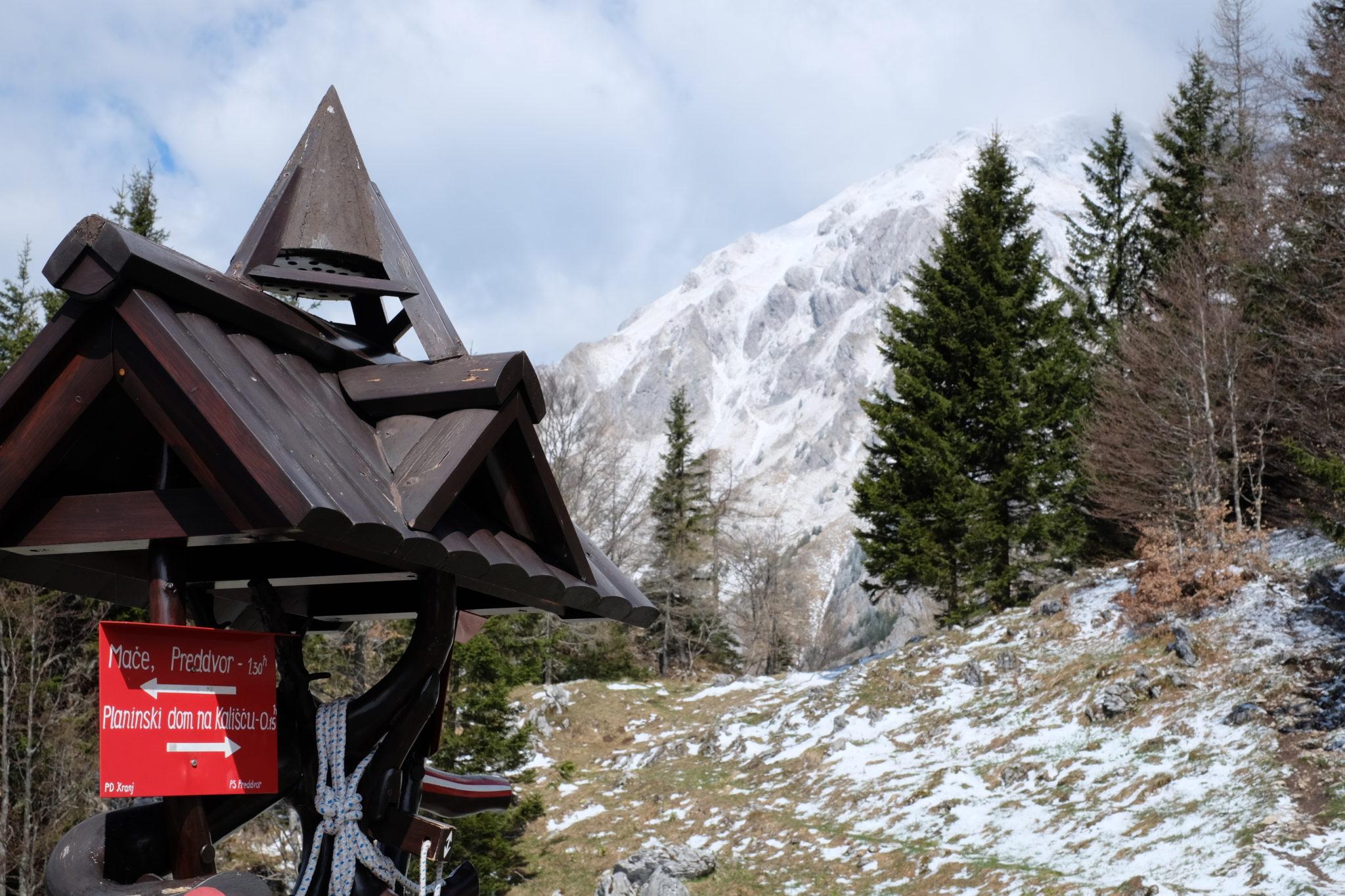 Storžič from the trail to Bašeljski vrh; photo by Exploring Slovenia