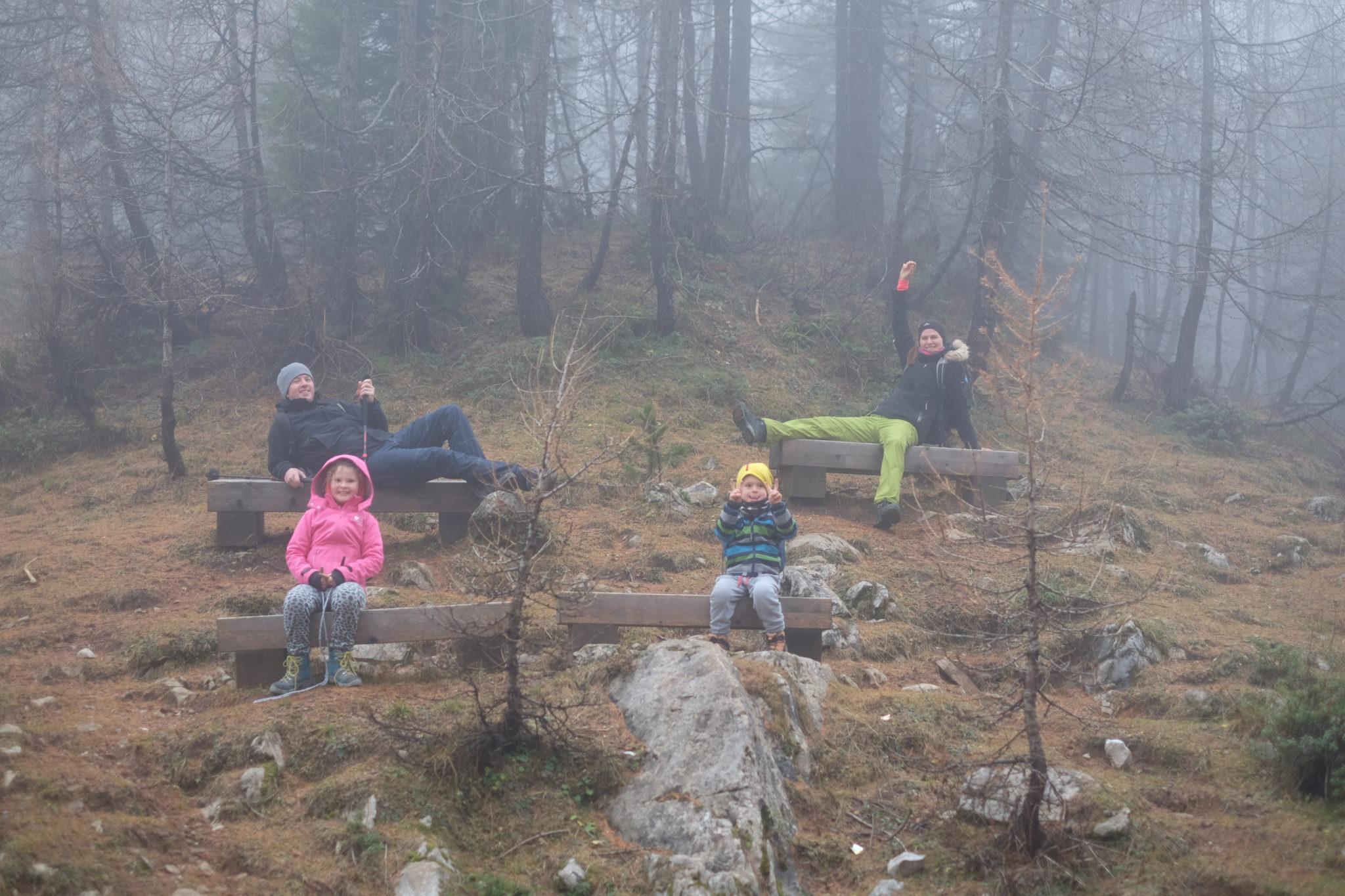 Family having fun in the mountains. Photo by: Exploring Slovenia