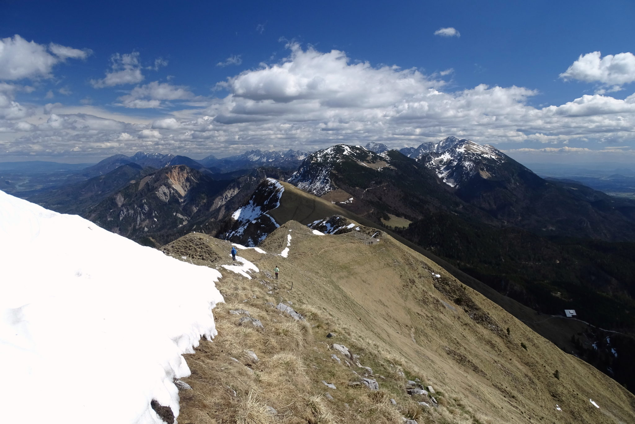 View from Golica, Slovenia, towards the Eastern Karawanks.