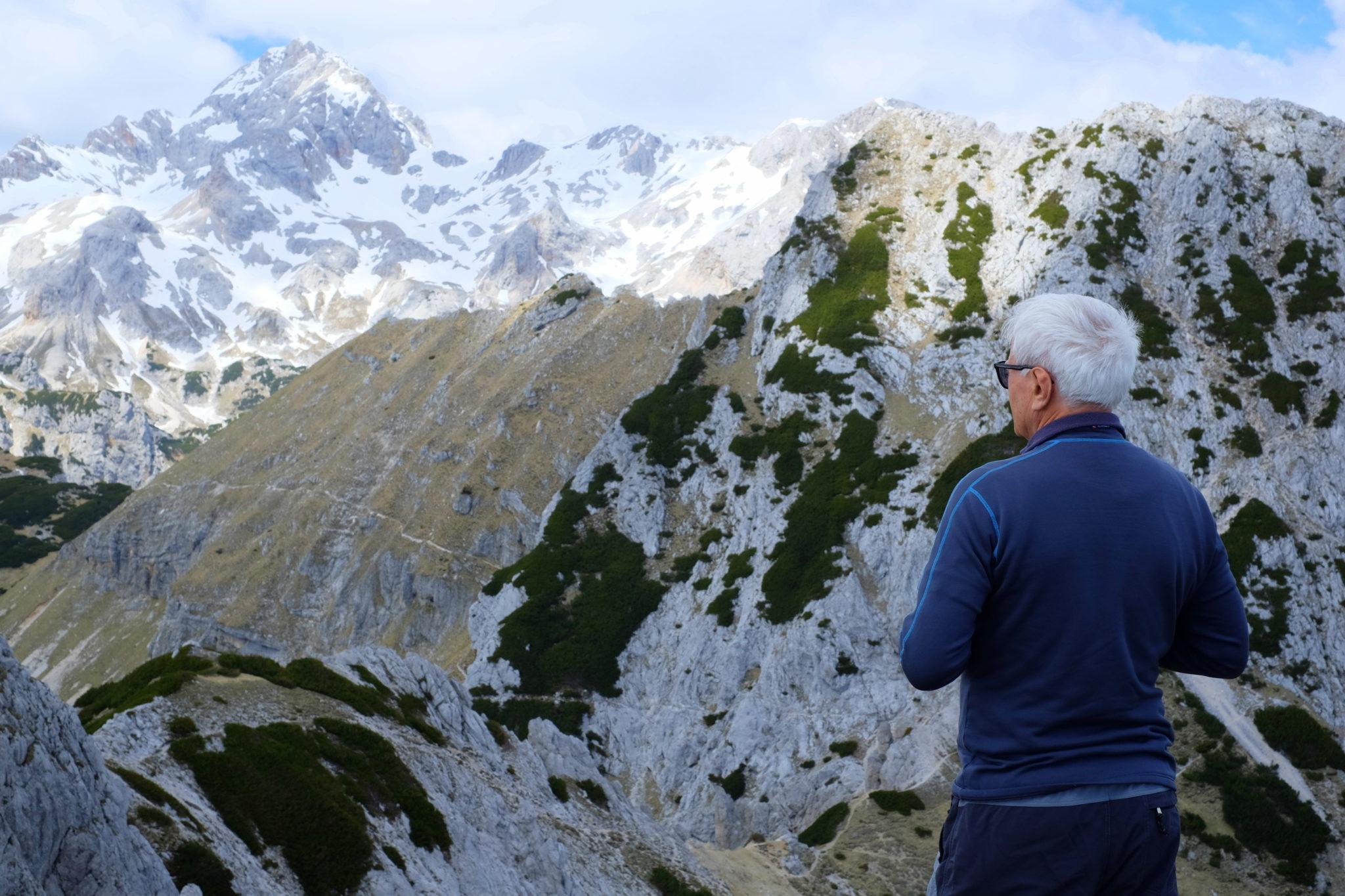 Hiking Viševnik, Slovenia, above Bled
