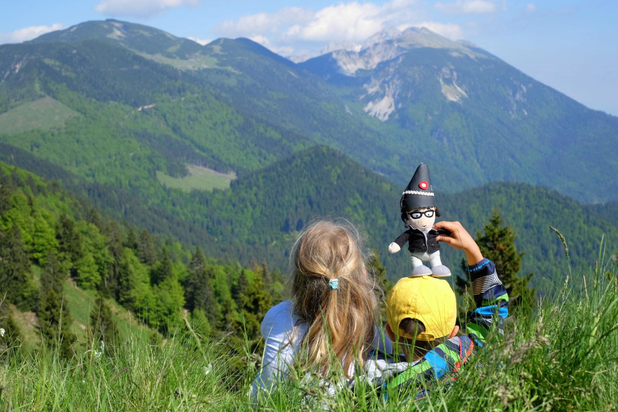 Kids enjoying their time in the mountains; Golica, Slovenia