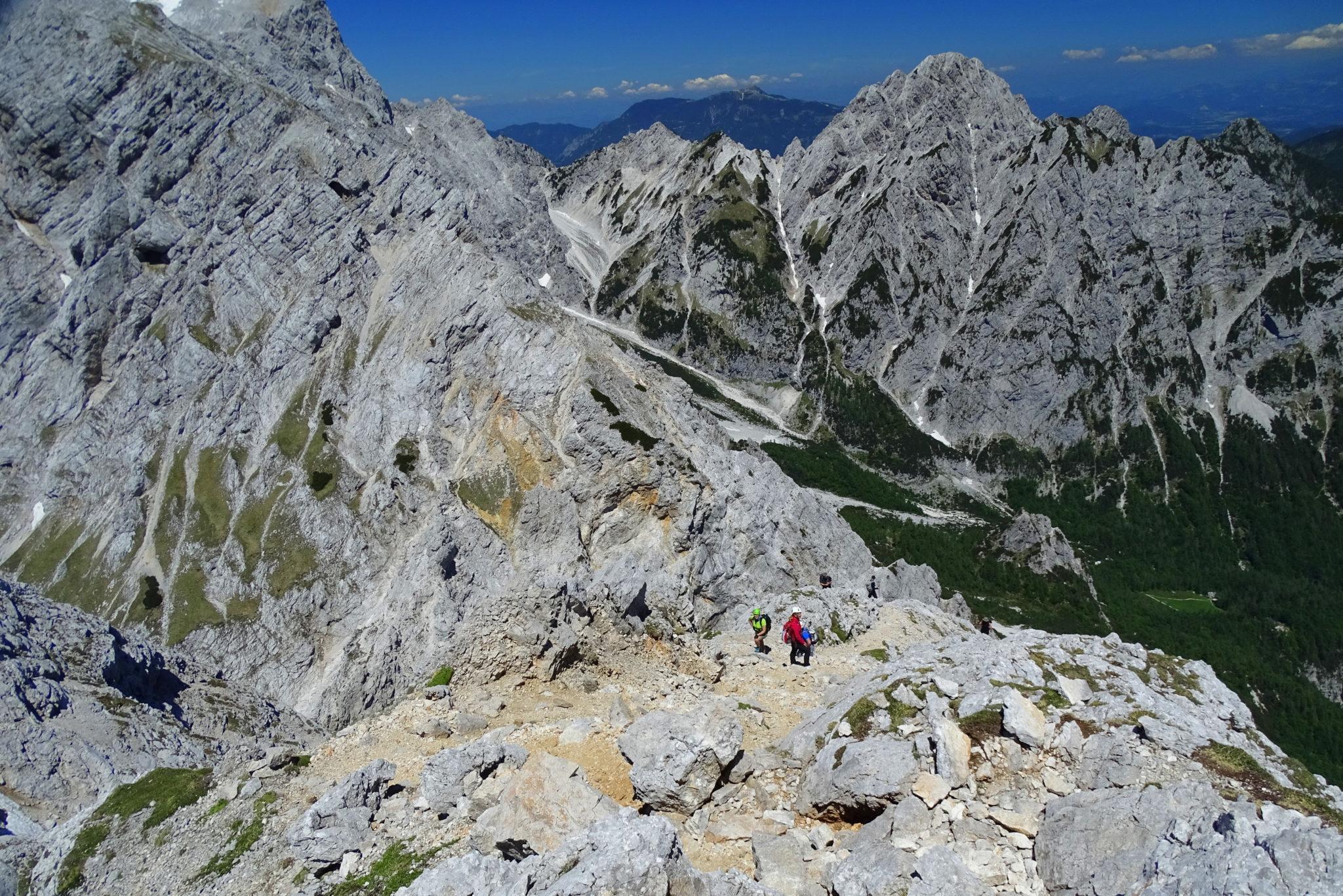 Climbing Slovenian mountains
