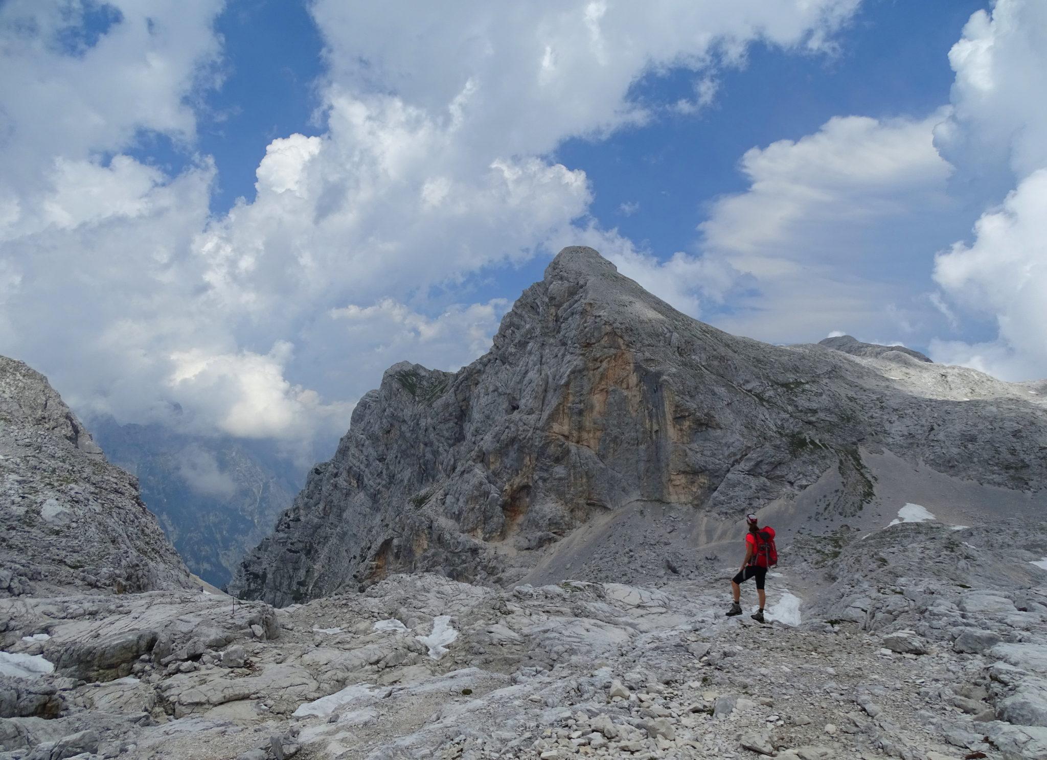 Hiking up to Triglav