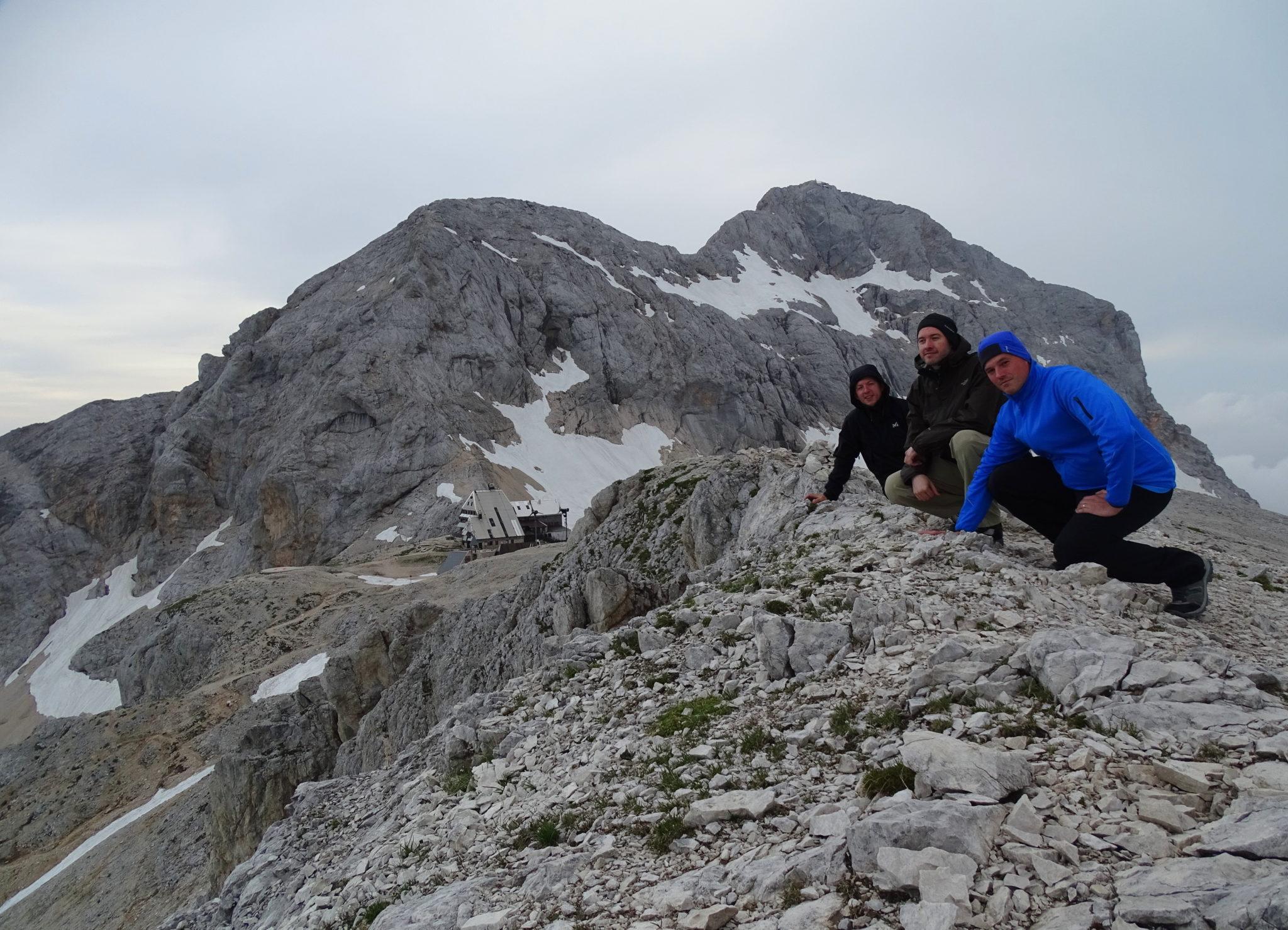 Hikers on Kredarica