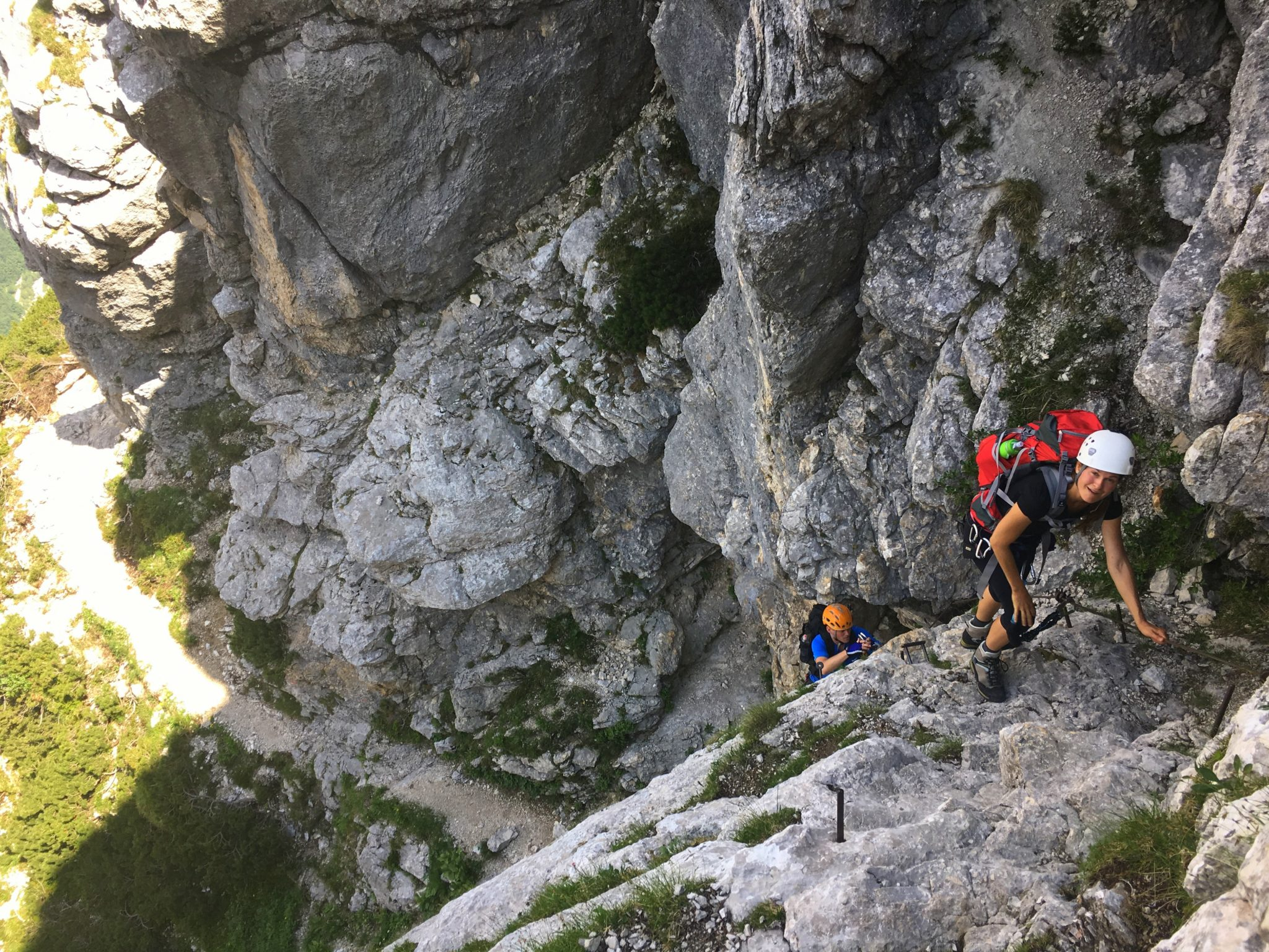 The hardest part of the Prag route - a 20-meter vertical climb.
