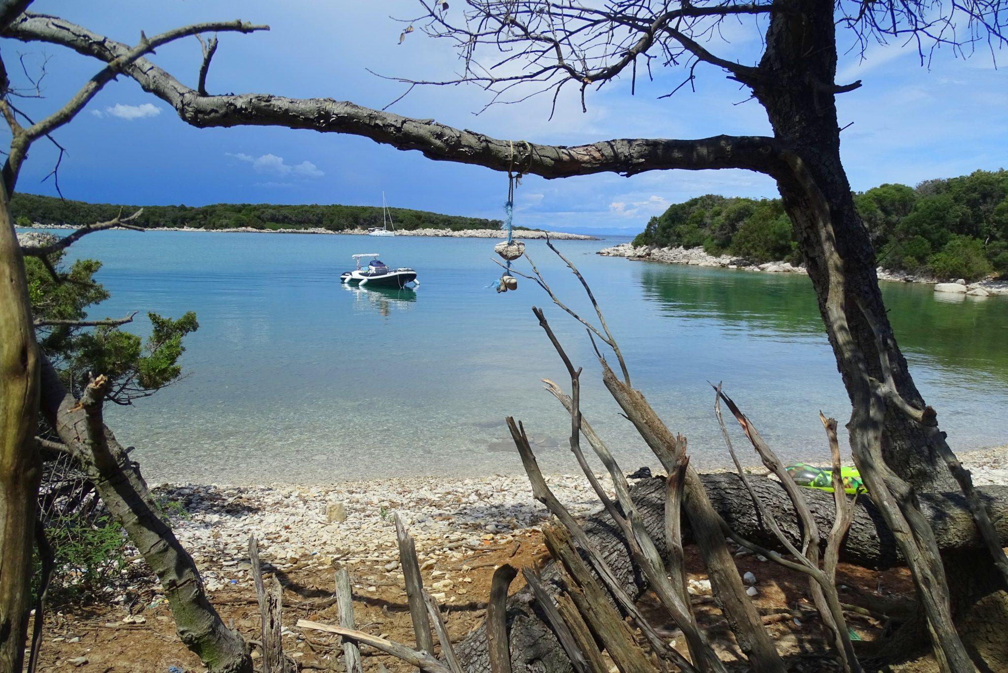 A beach somewhere along Punta Križa, Cres