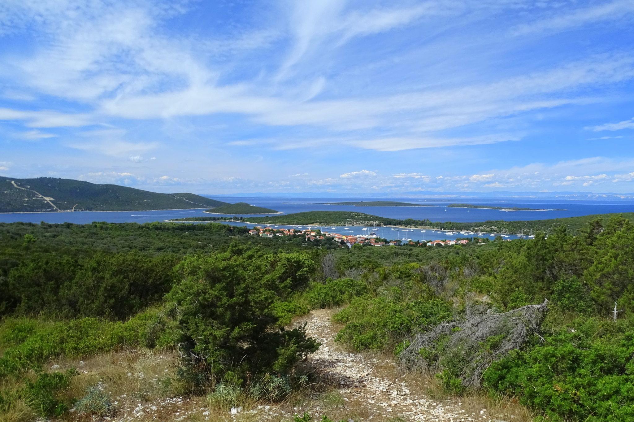 View of the Ilovik village