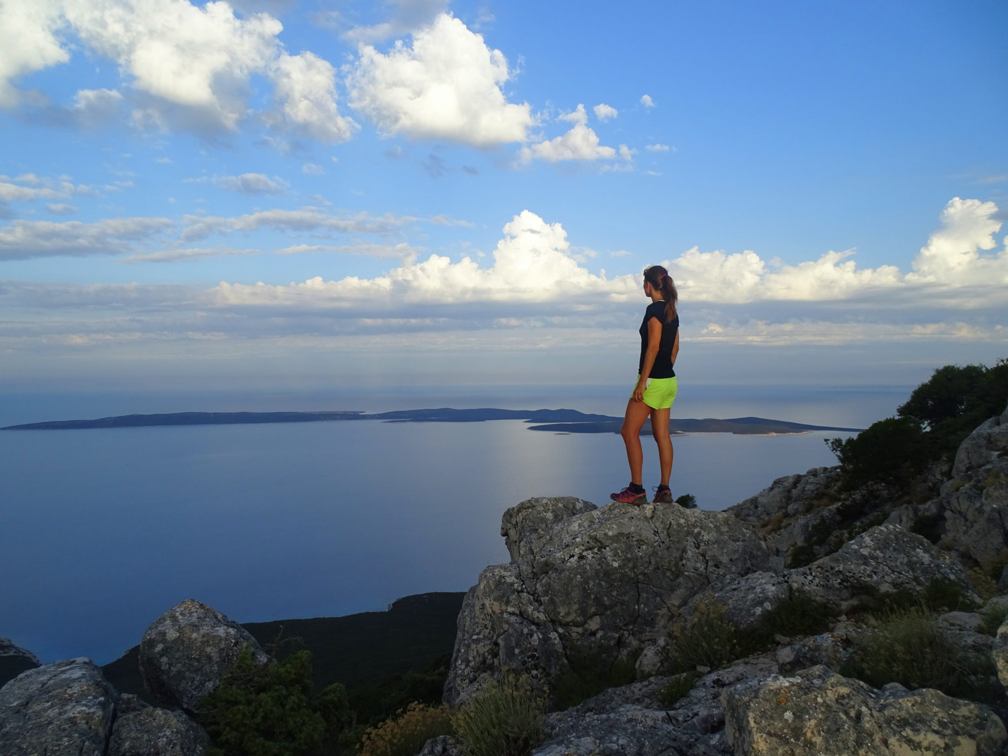 Views from Lošinj's highest peak Televrin, 588 m