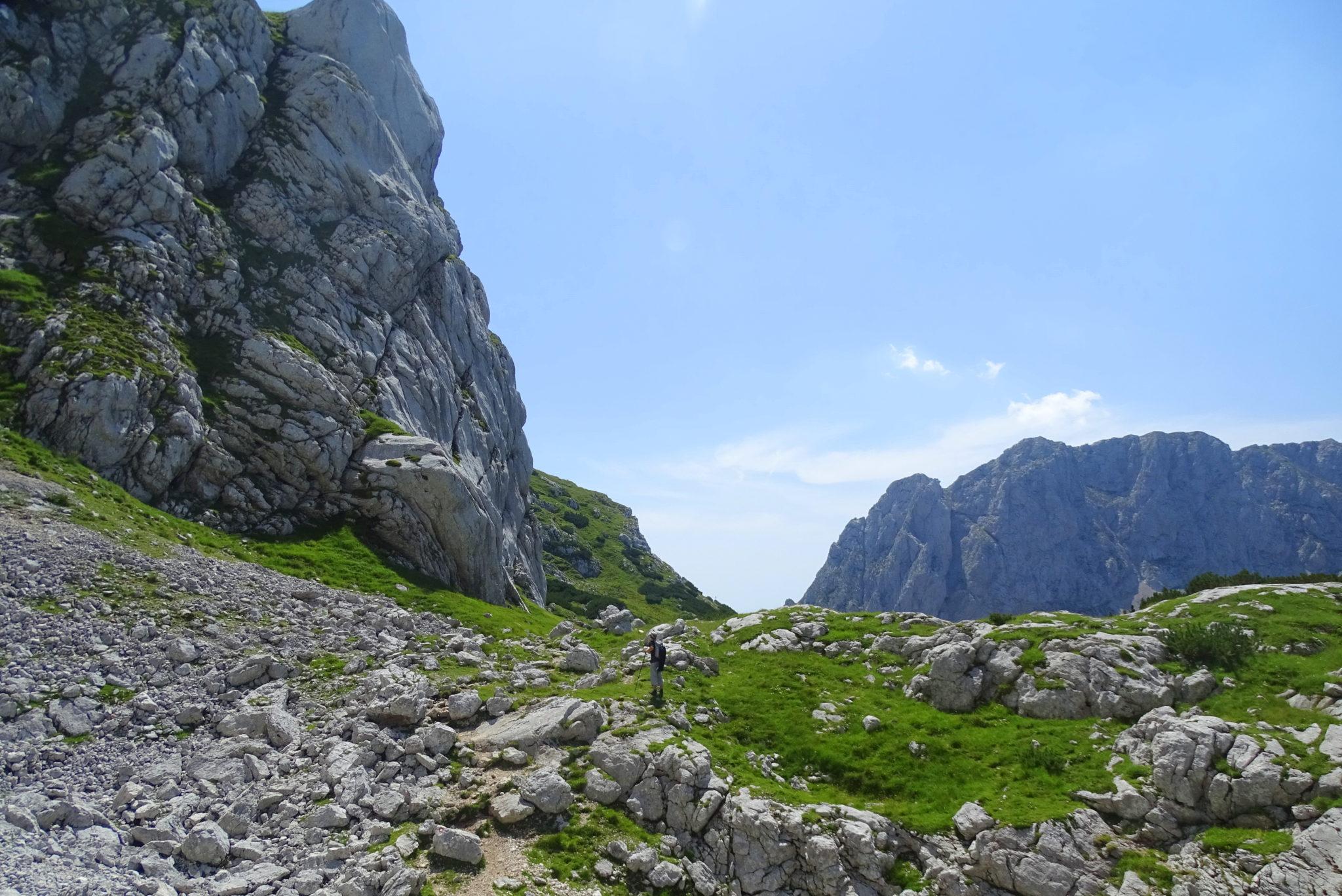 Returning back from Grintovec, Kamnik-Savinja Alps