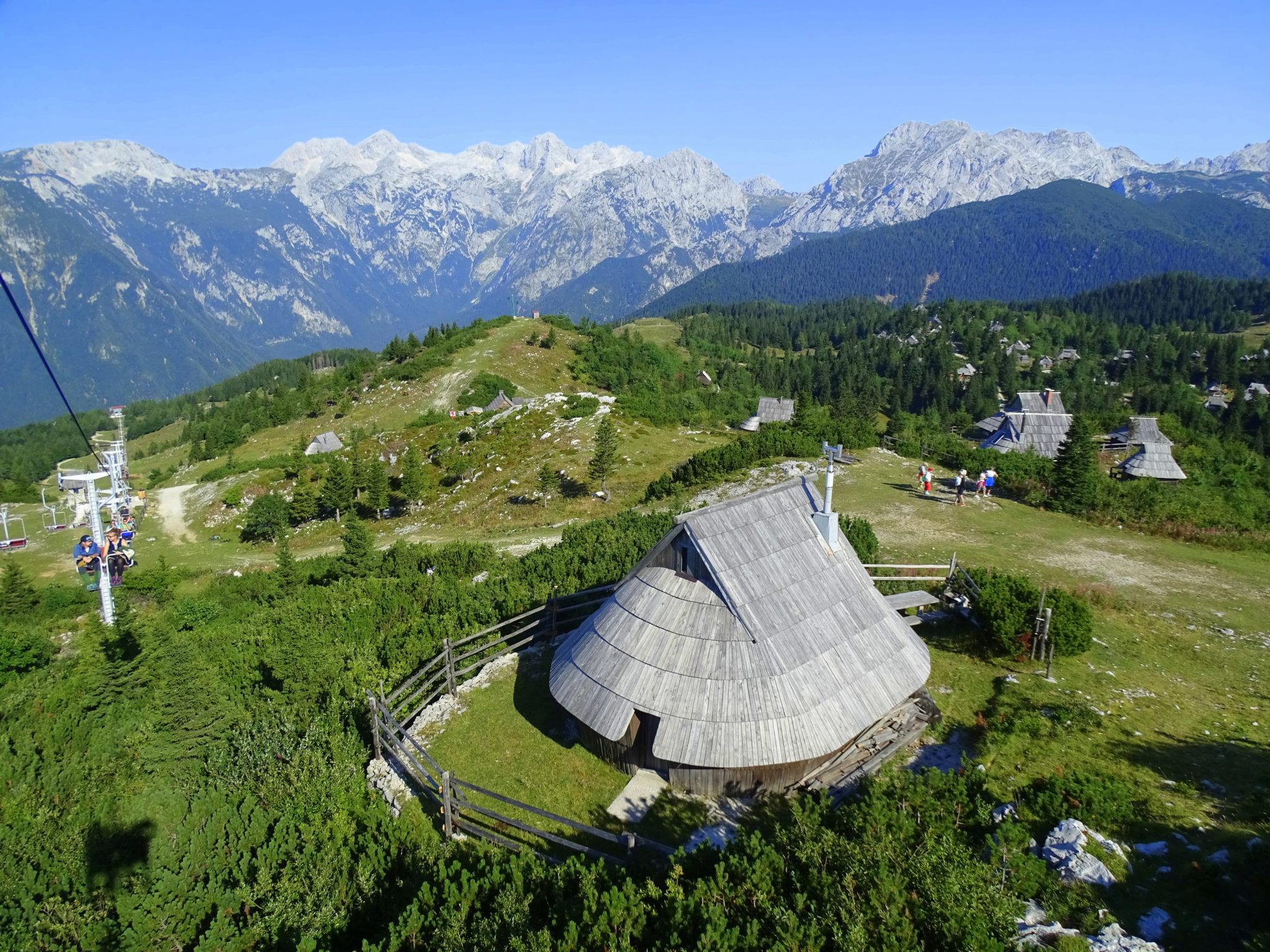 A shepherd's building on Velika Planina
