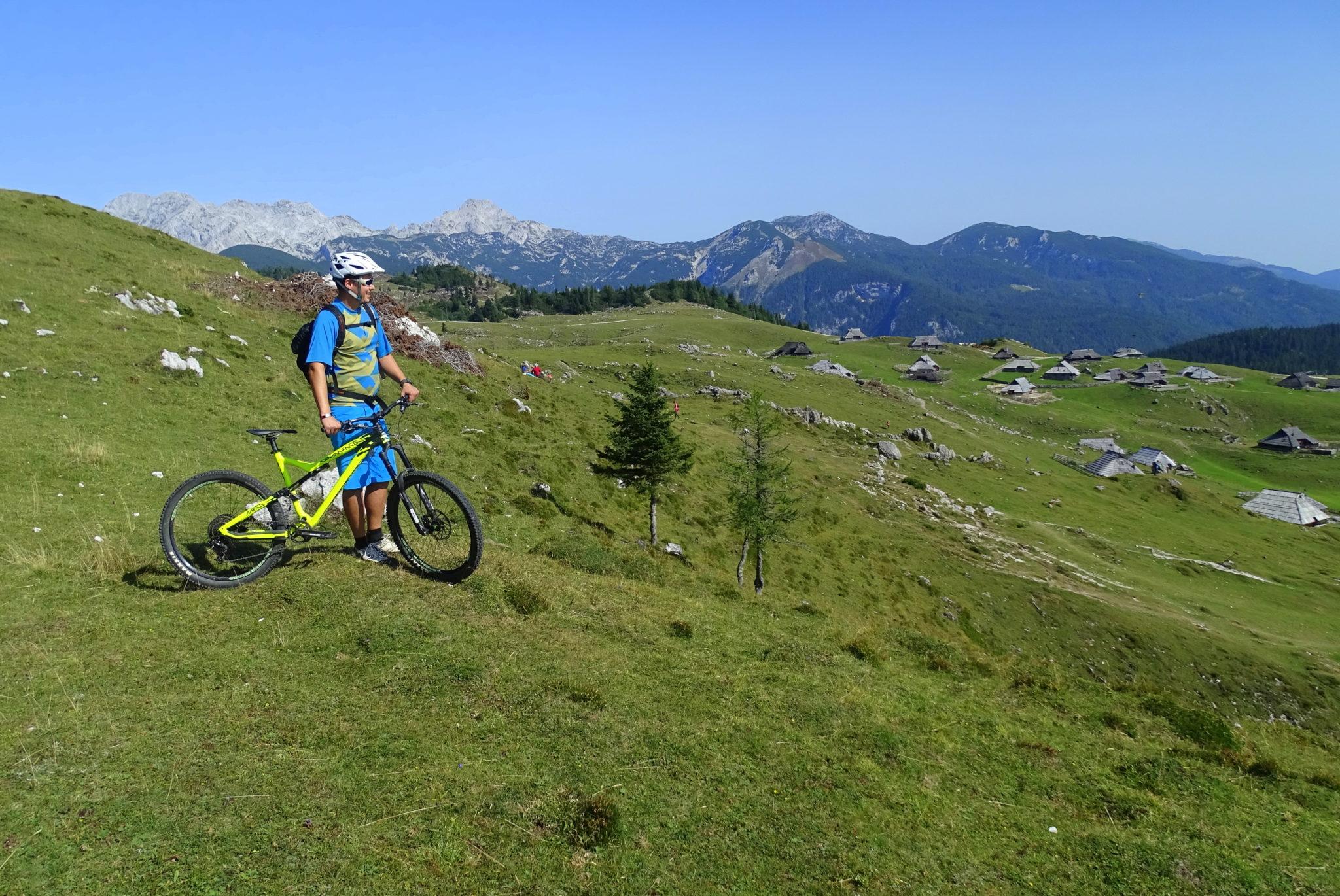 Mountain biking near Ljubljana, Velika Planina