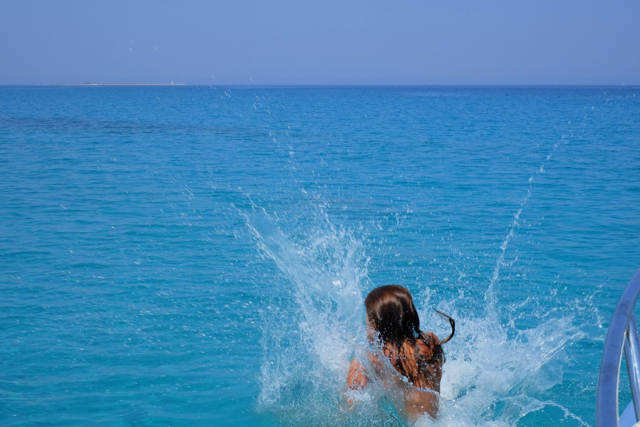 Swimming, Olib, Croatia