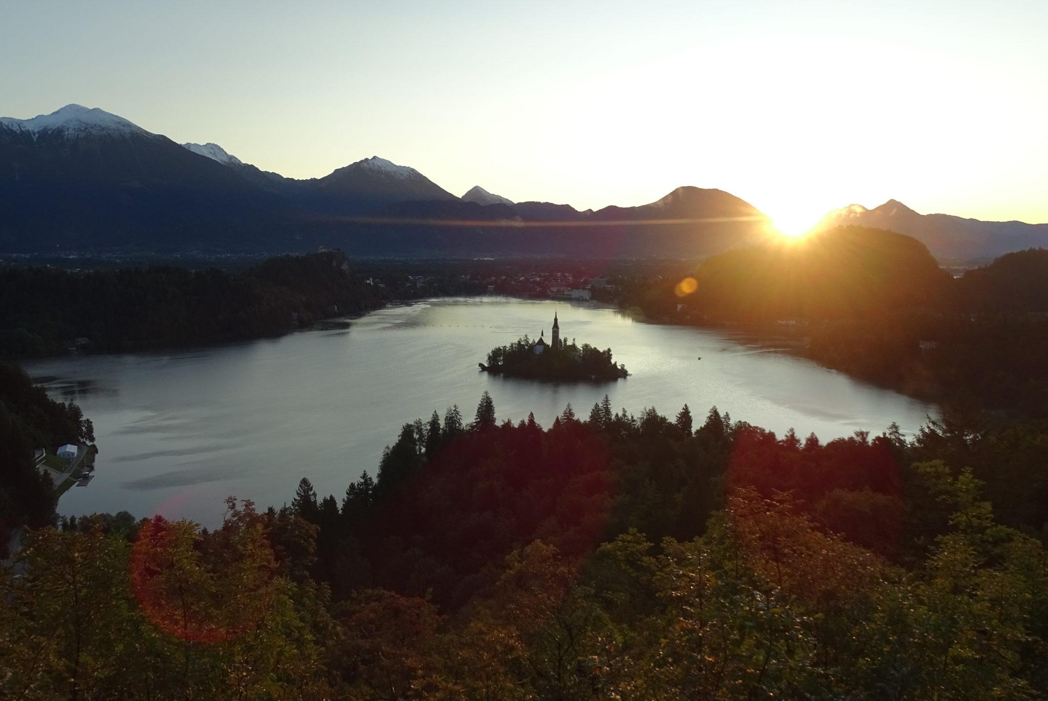Bled for sunrise from Ojstrica