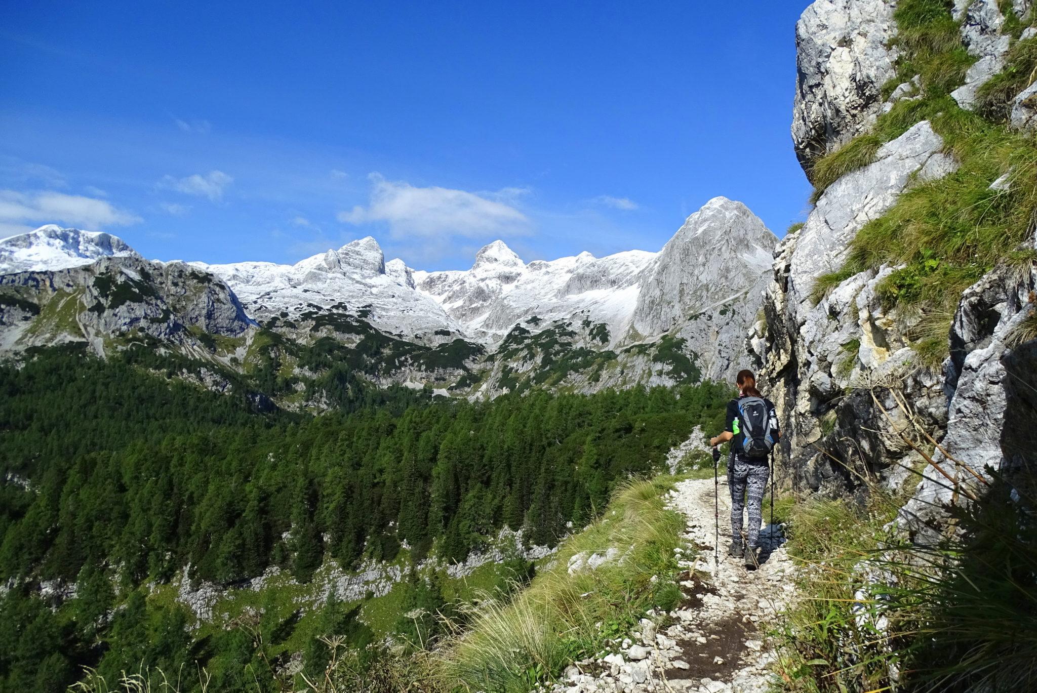 Hiking in Slovenia in Triglav National Park