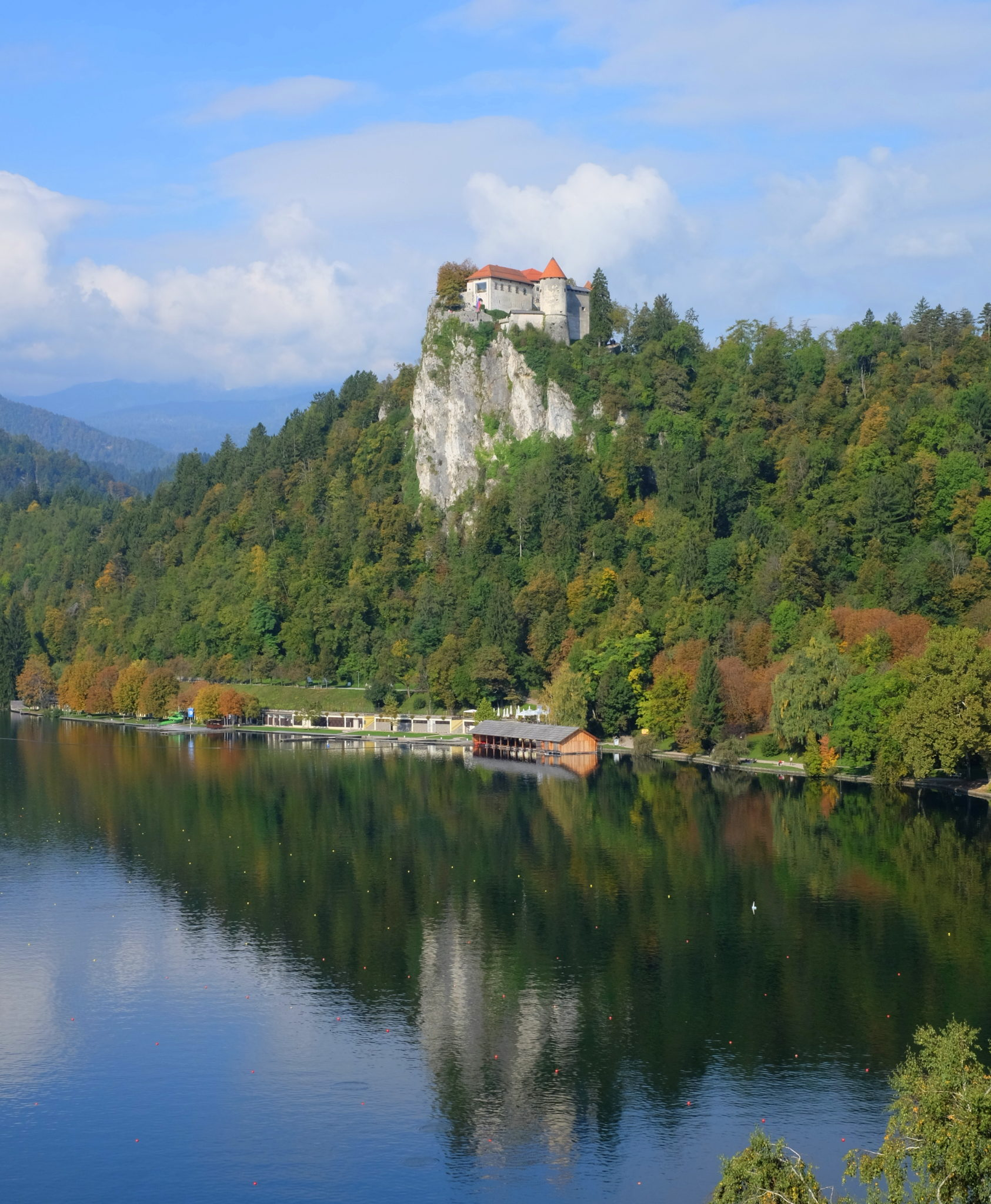 Bled Castle and its reflection