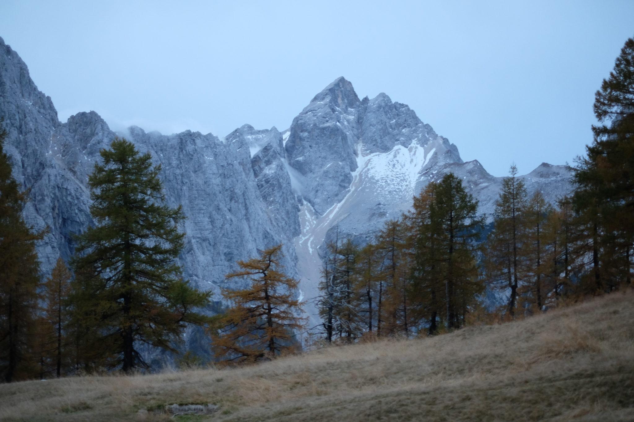 Mt. Jalovec, 2,645 m, from Sleme, Julian Alps, Slovenia, Kranjska Gora, Vršič