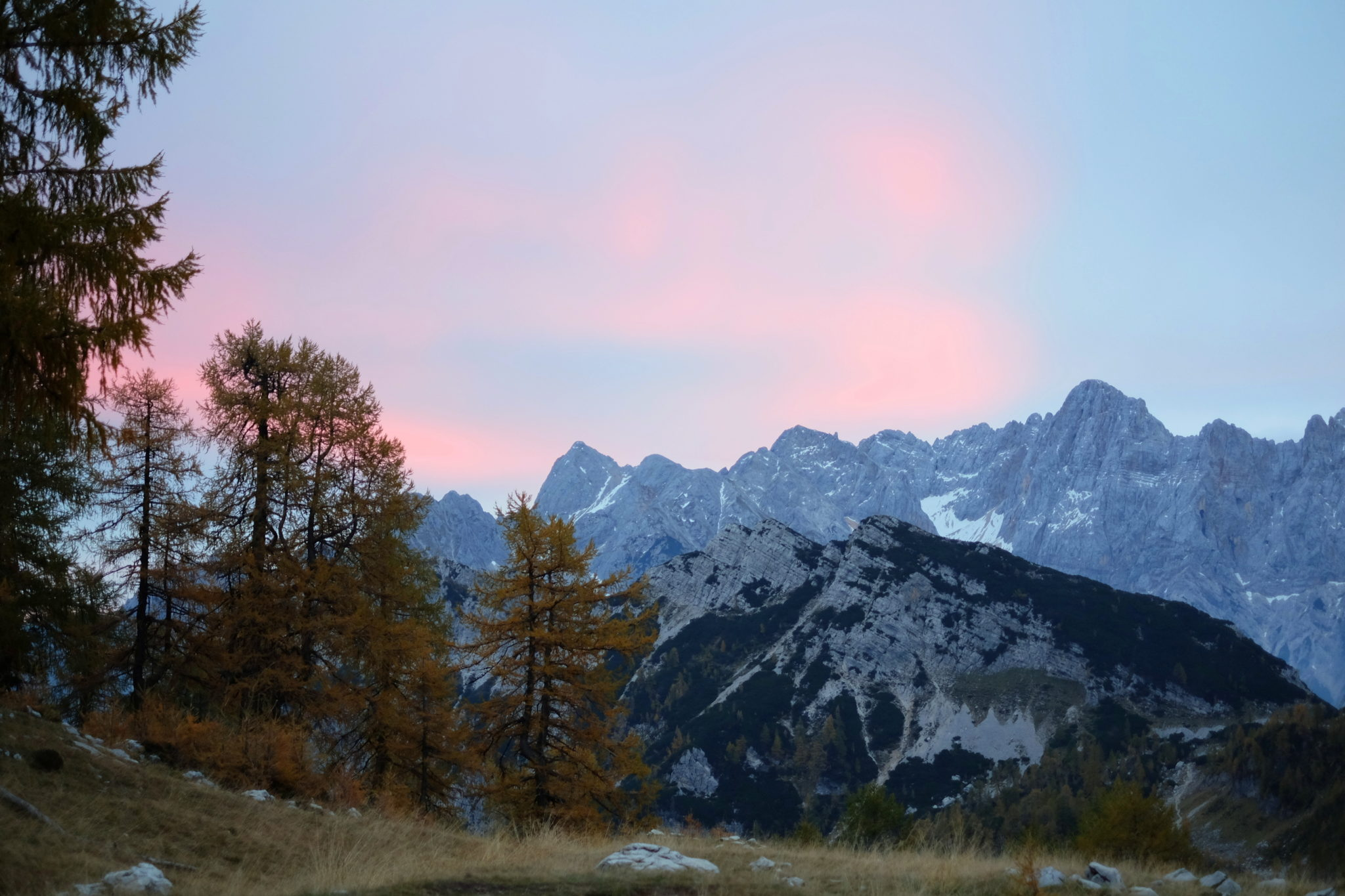 Sunrise in the Julian Alps
