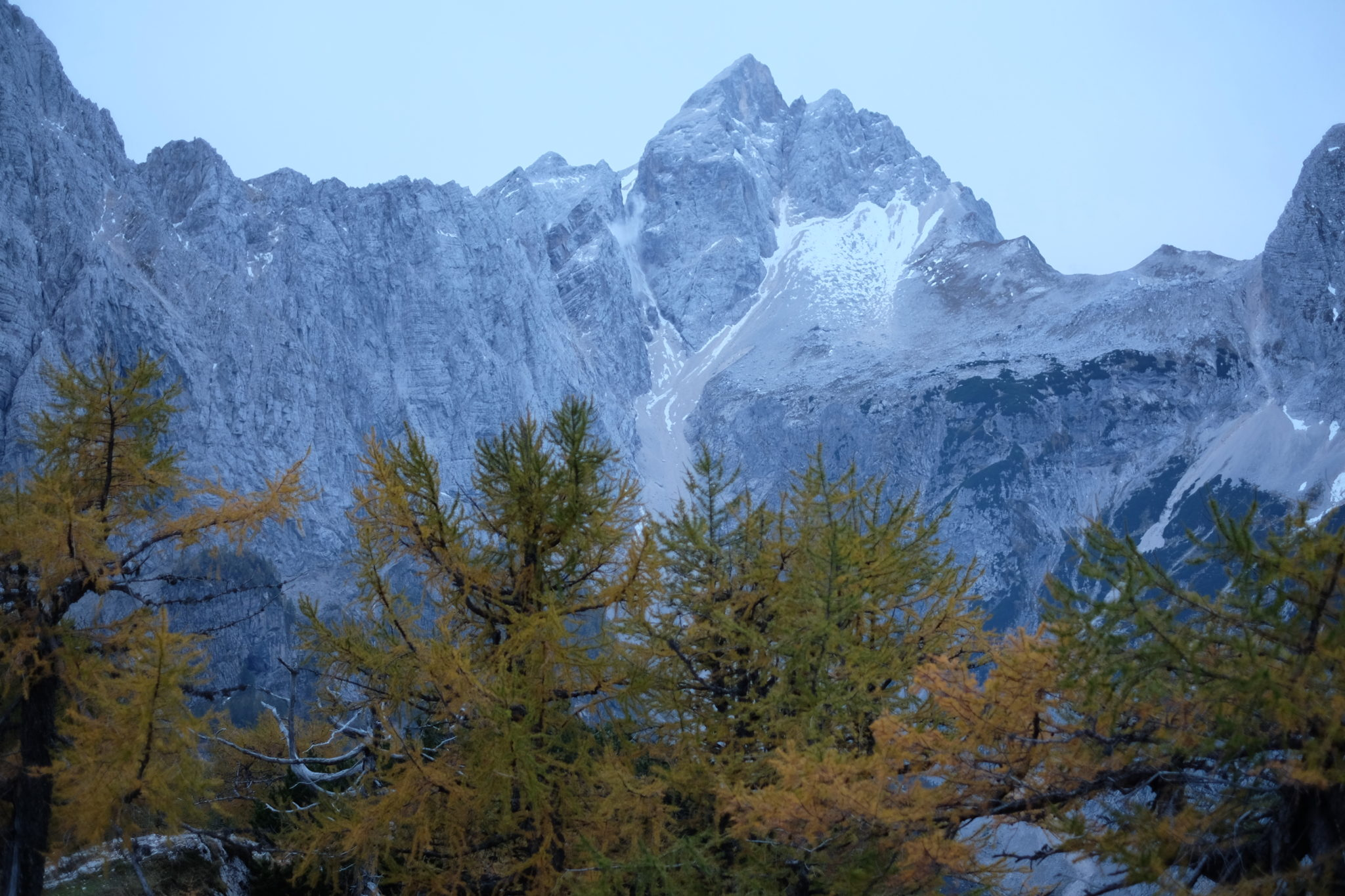 Jalovec in early morning, Julian Alps above Kranjska Gora, Slovenia