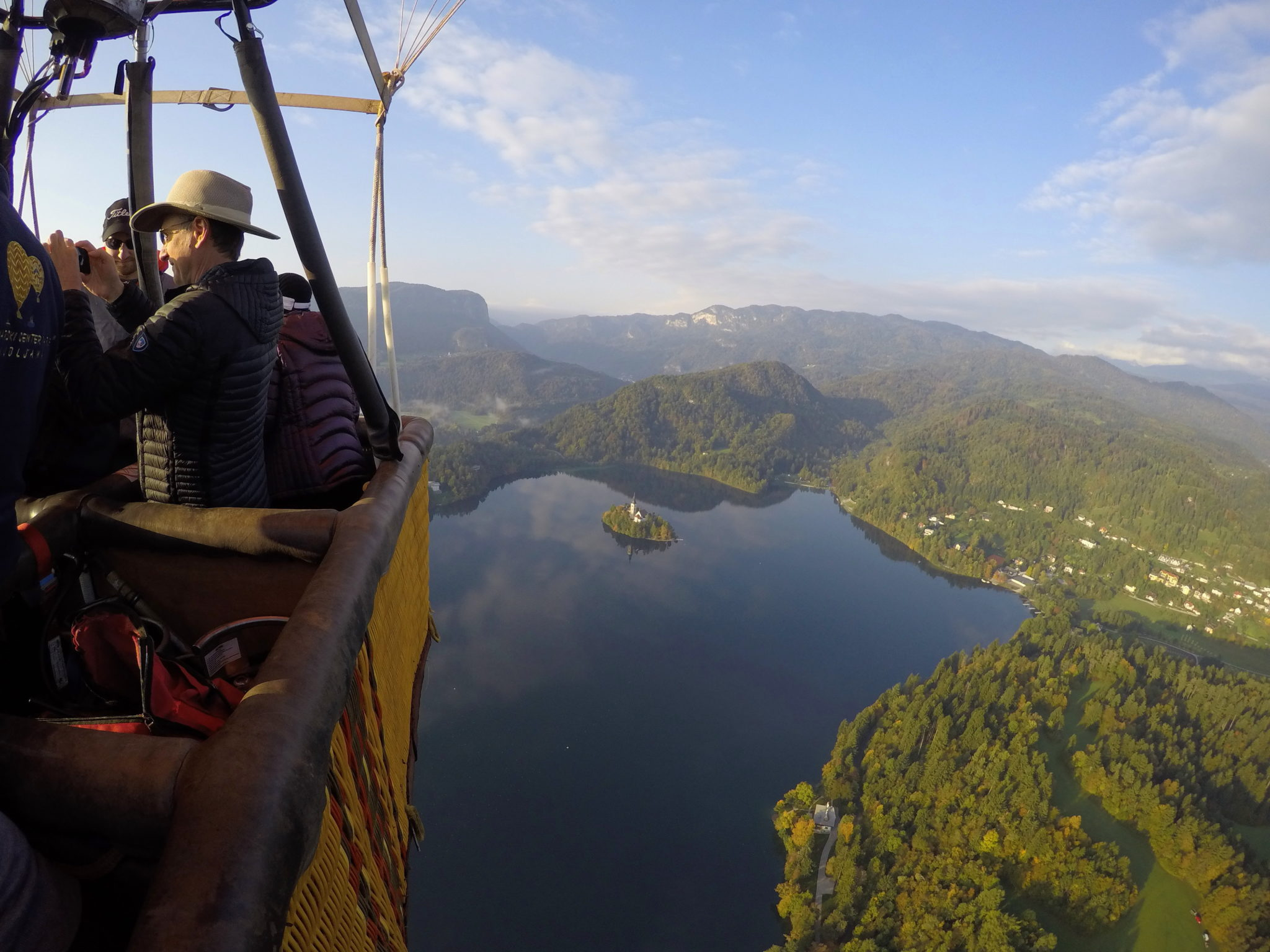 As spectacular as it gets: ballooning over Bled, Slovenia; flying over Lake Bled
