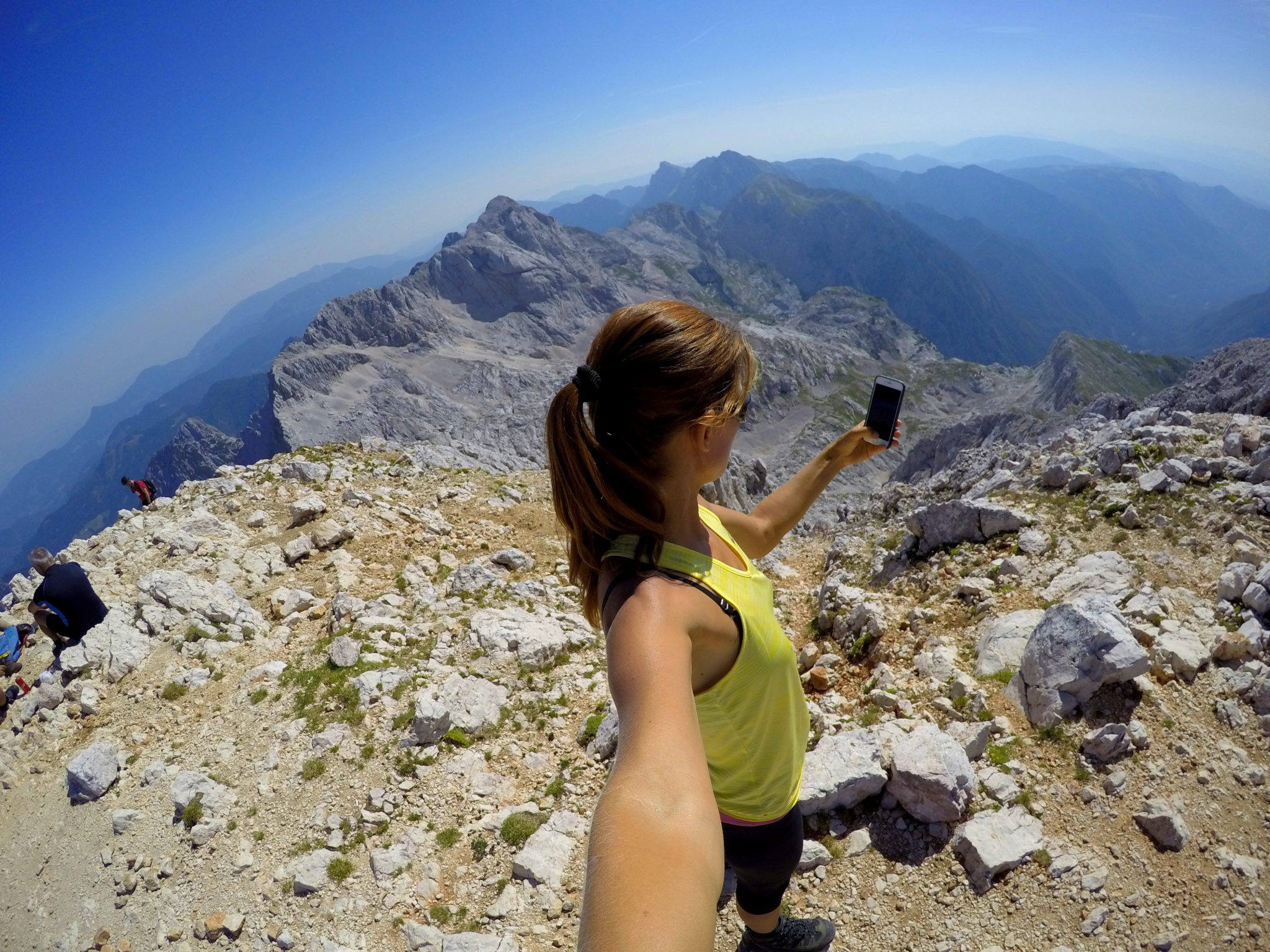 At the top of Mt. Grintovec, Slovenia