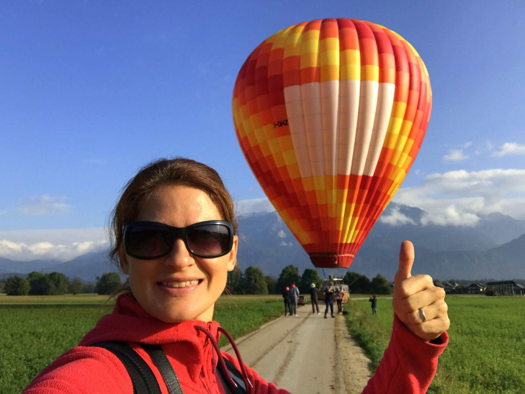 I love ballooning in Slovenia, over Lake Bled