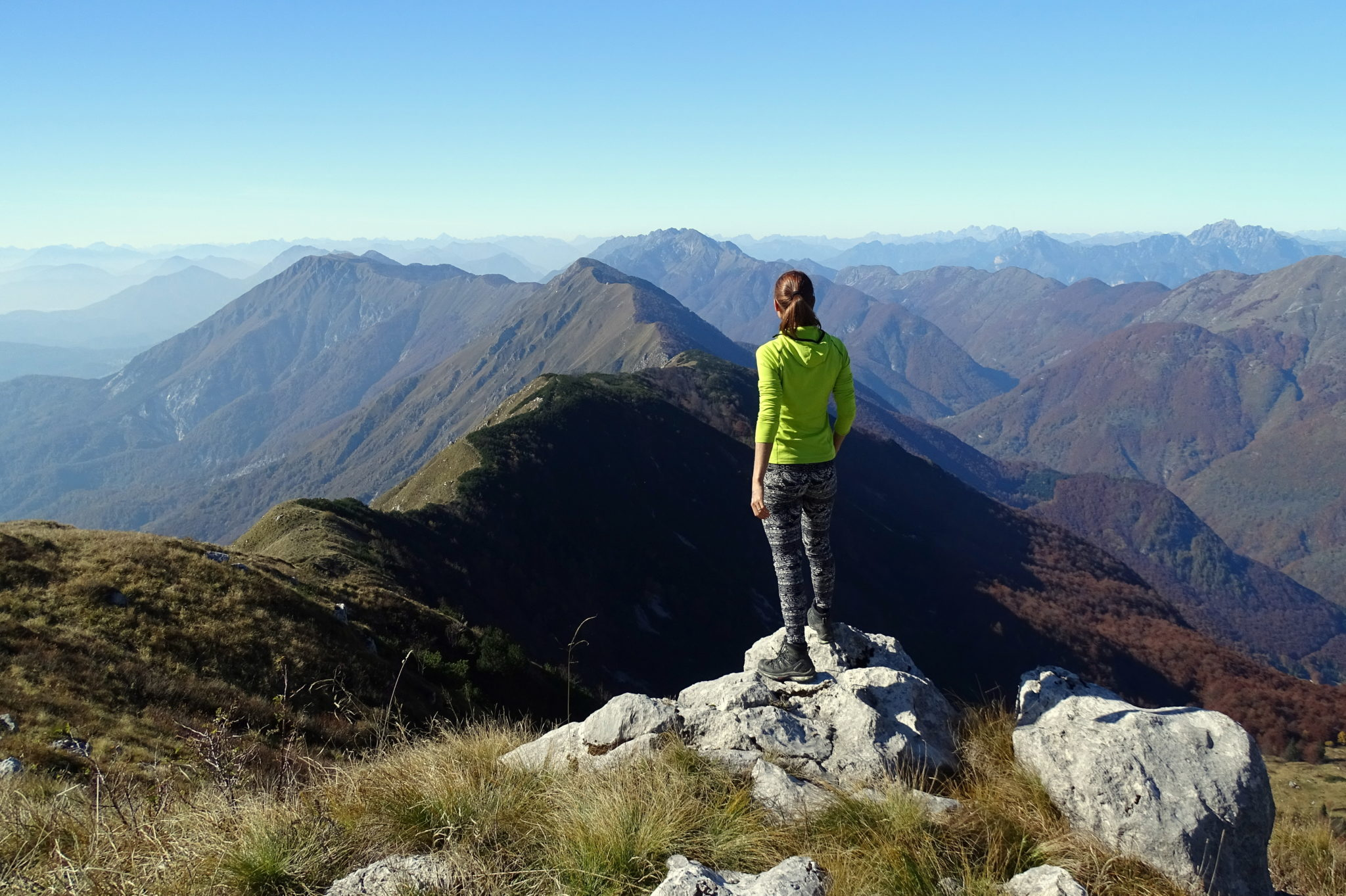 Hiking the longest massif in the Julian Alps, the Stol massif.