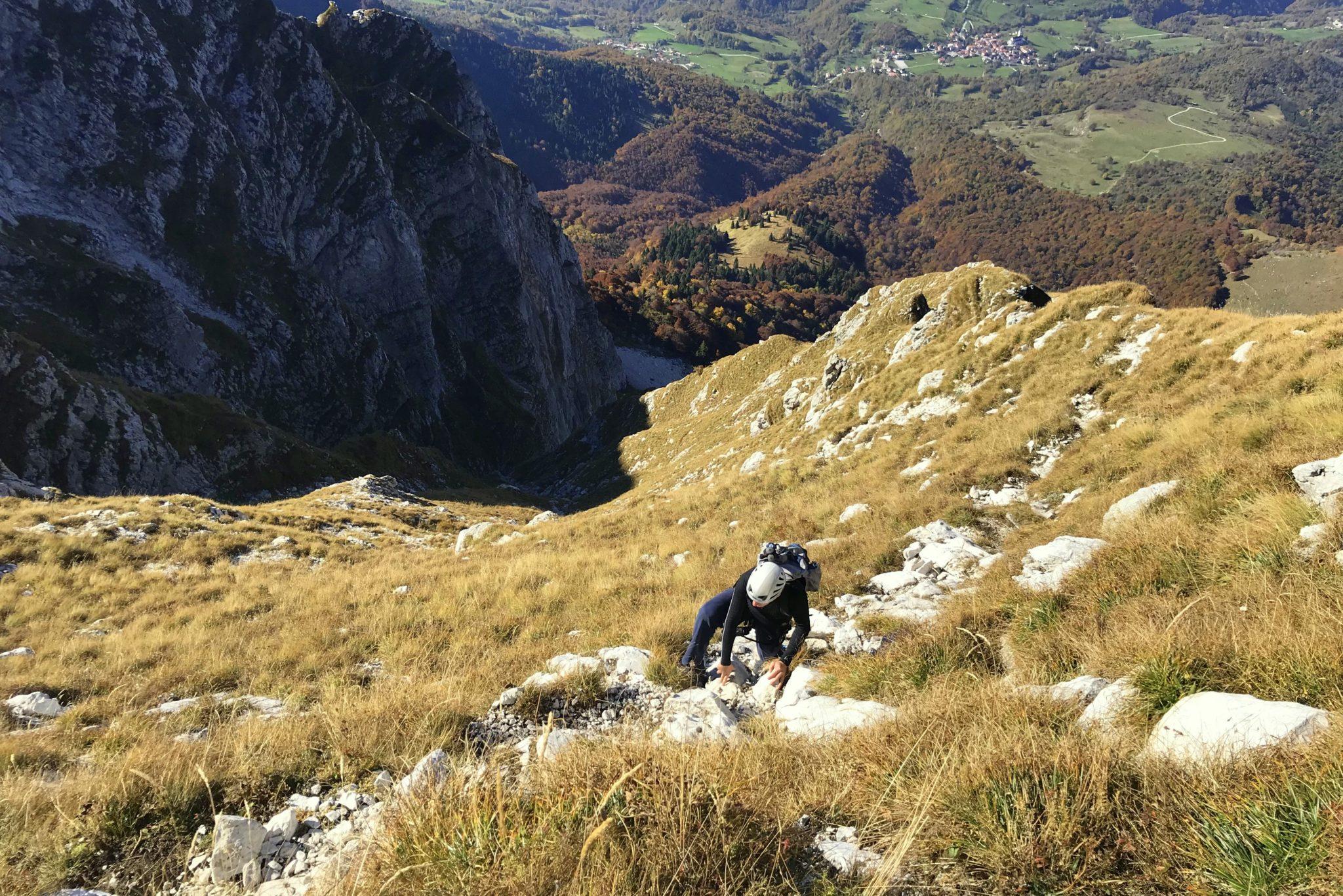 Climbing the Silvo Koren to Mt. Krn, Slovenia