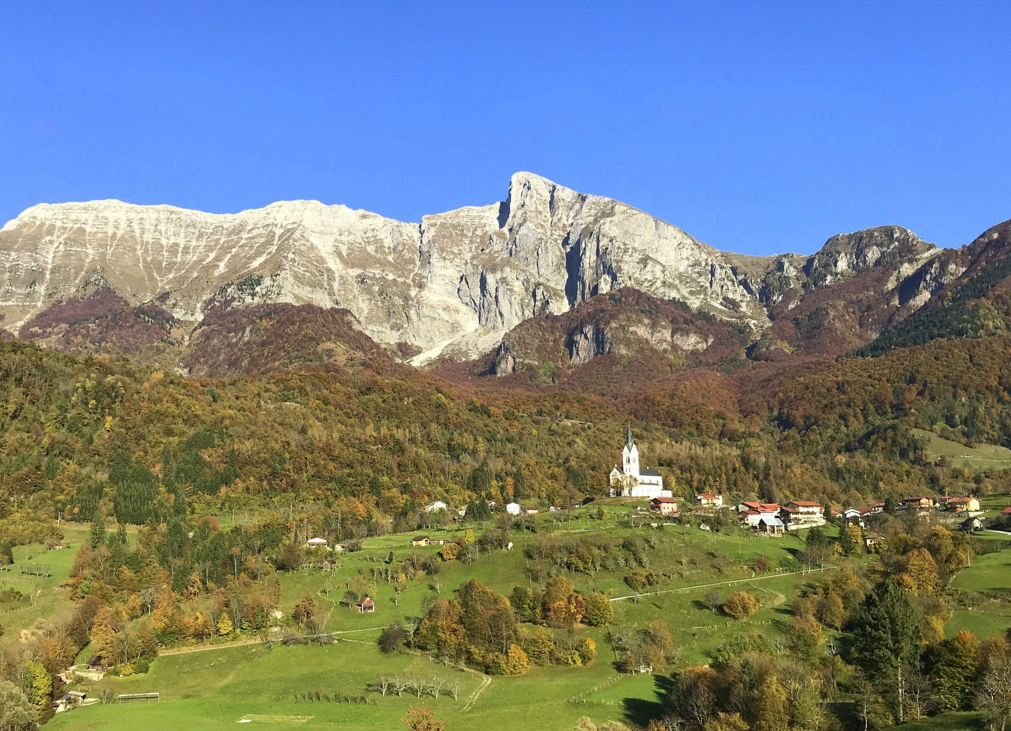 Mt. Krn and the Drežnica Village