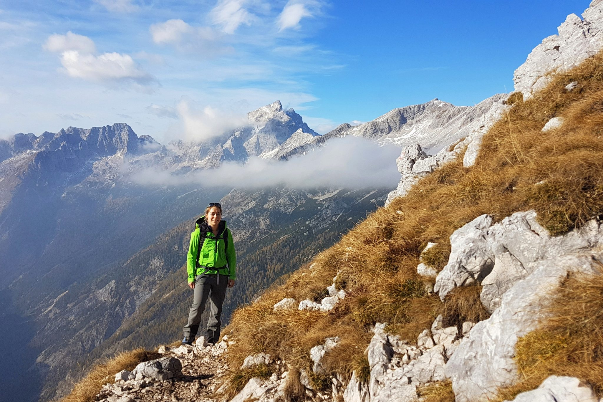 Hiking to Prisojnik, Julian Alps, Slovenia