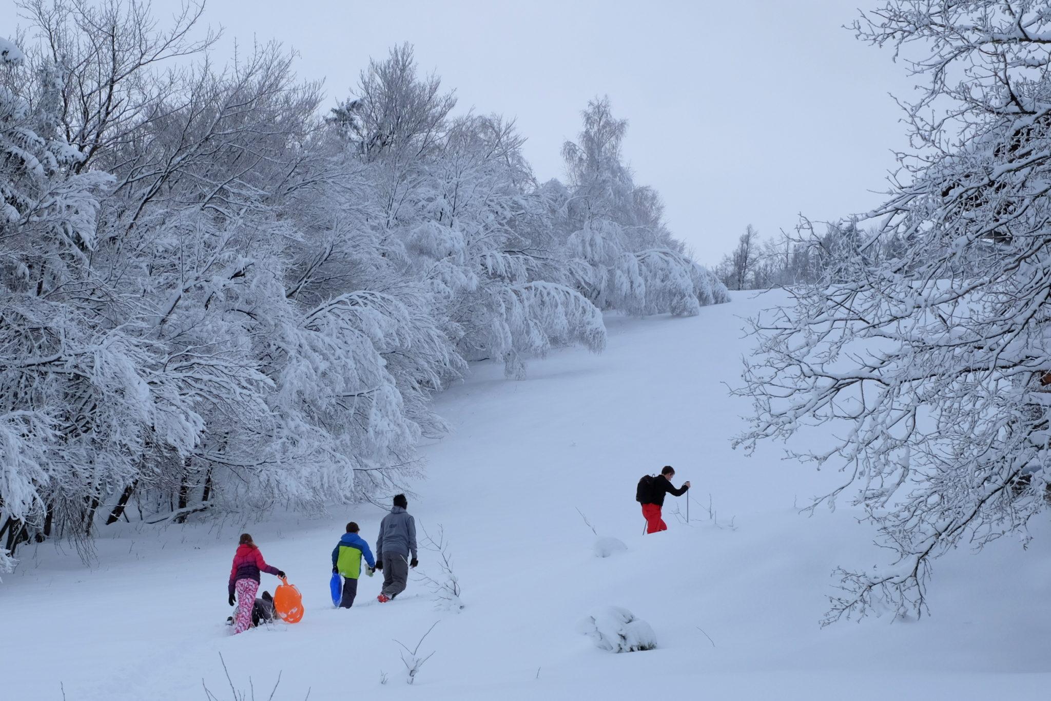Winter hiking above Vrhnika.