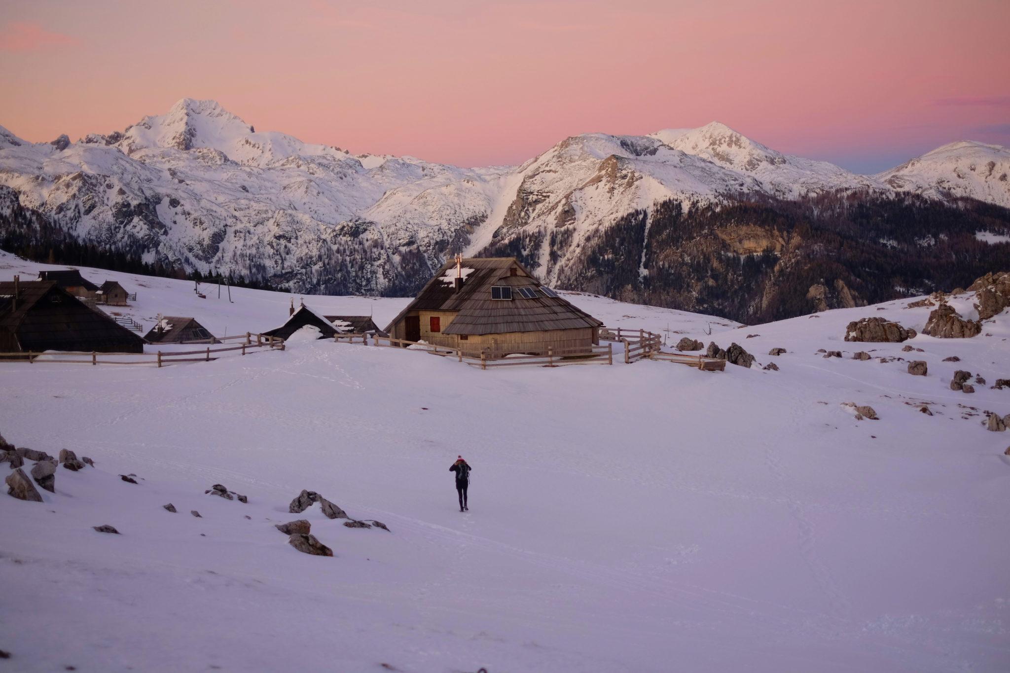 Velika Planina for sunset, Central Slovenia