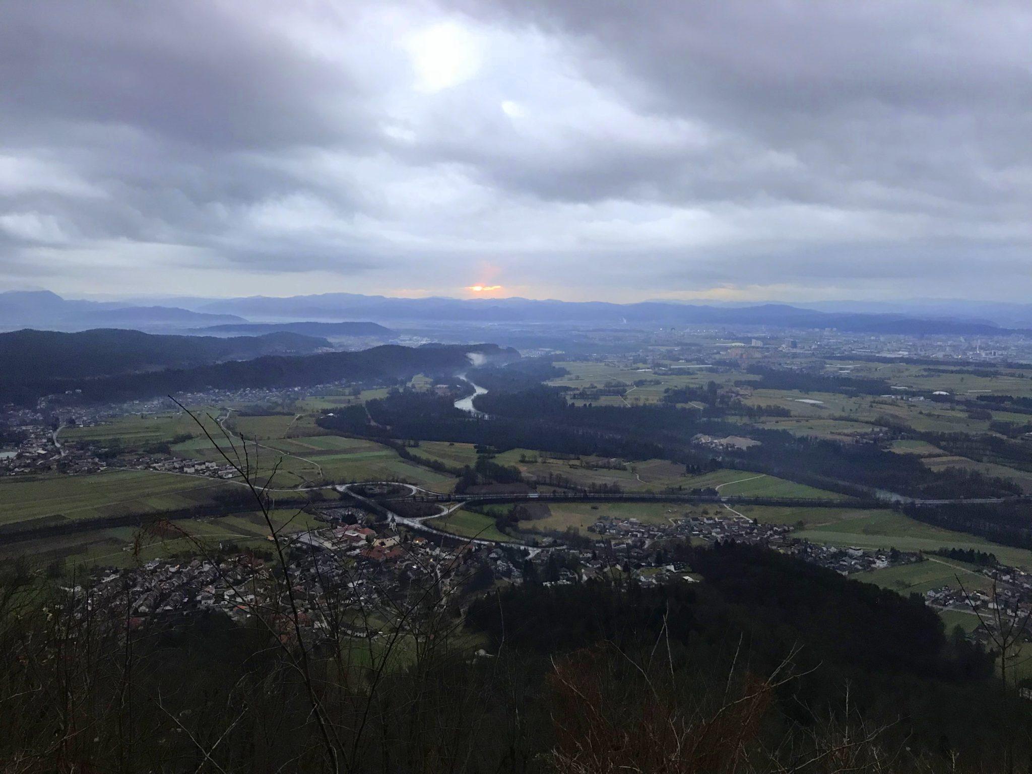 Sunrise from the rainy Šmarna gora