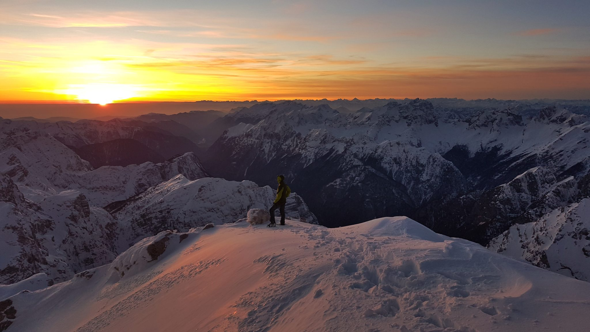 Triglav for sunset, Julian Alps, Slovenia, sunset mountain photography