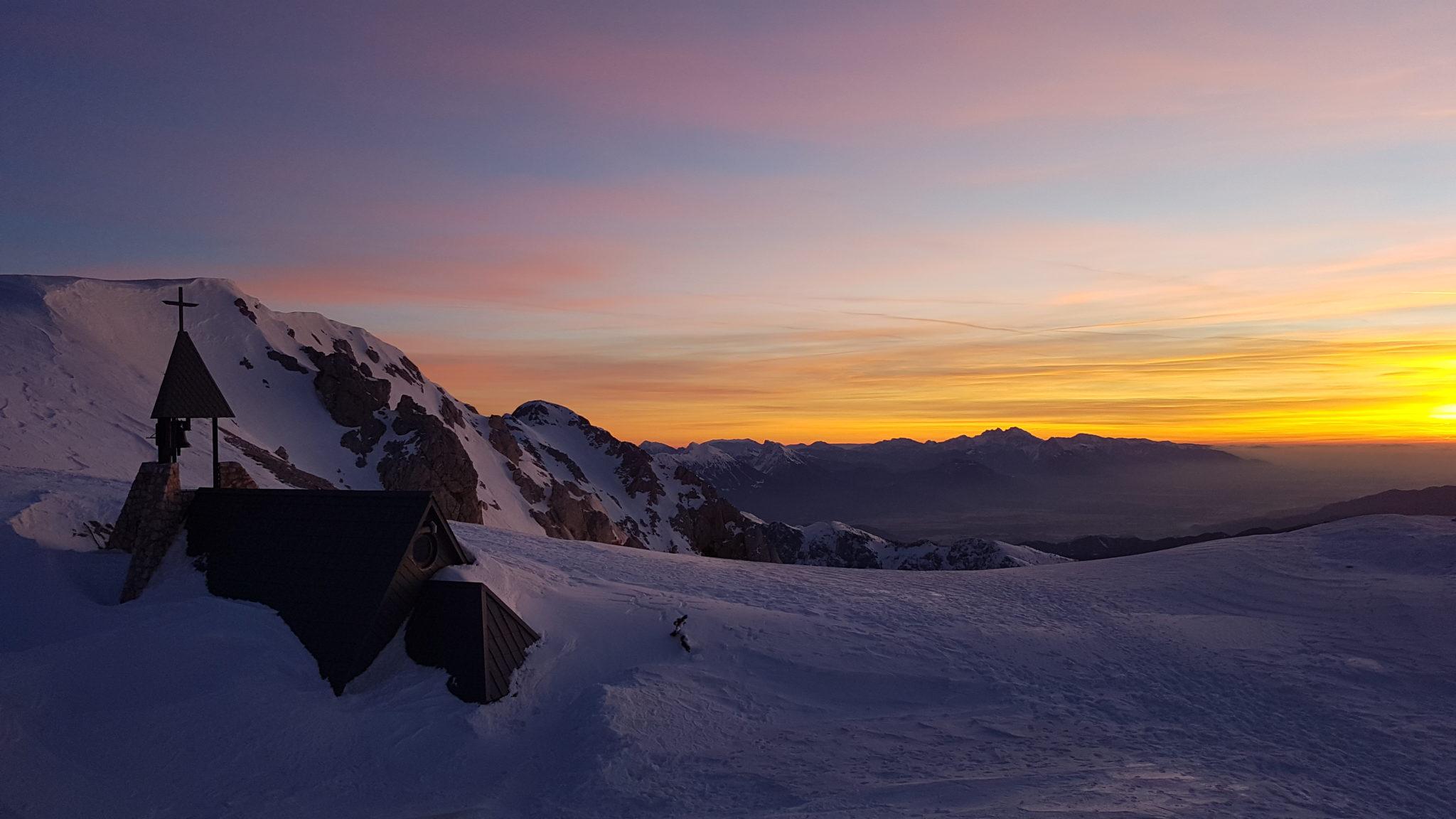 Kredarica for sunrise, Julian Alps, Triglav, Slovenia