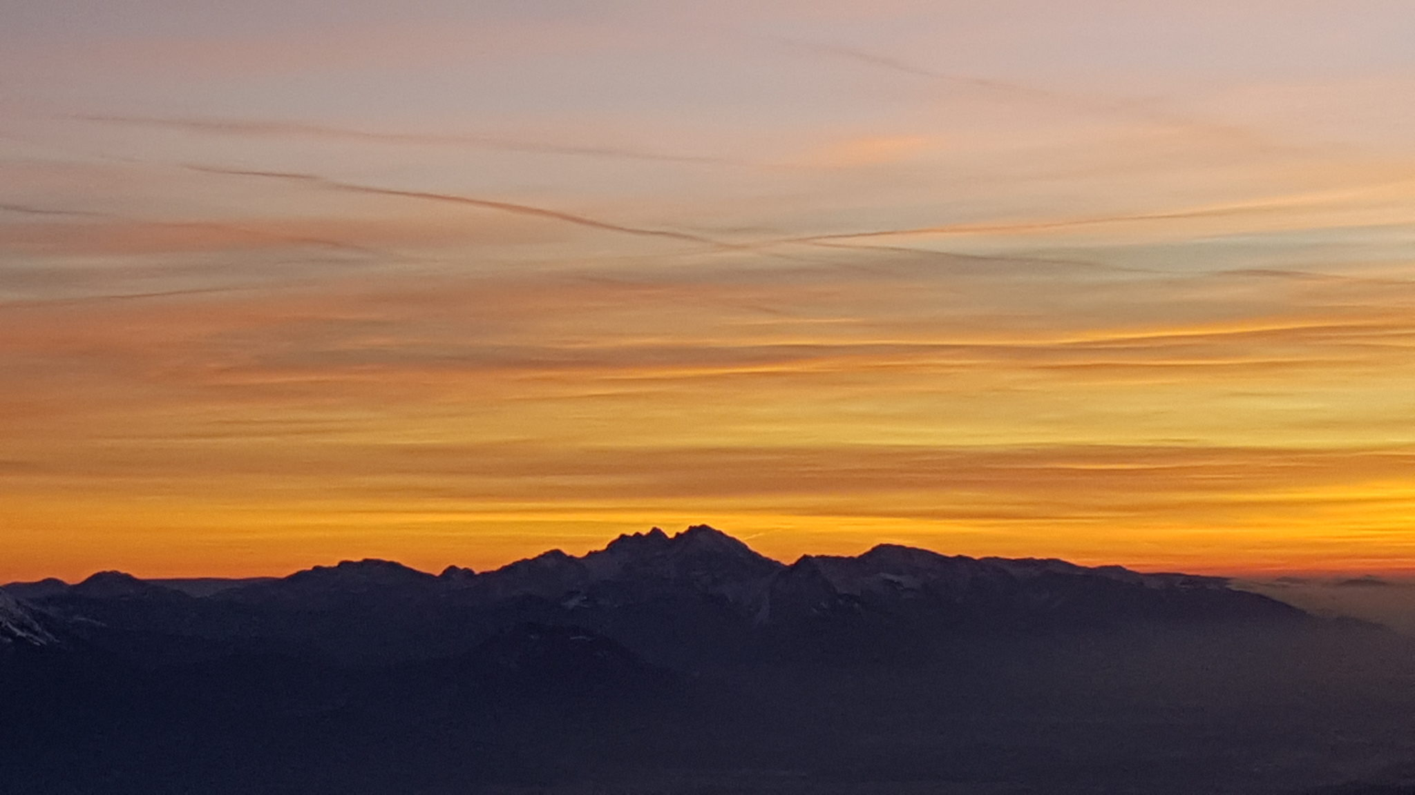 Julian Alps for sunset from Triglav, Slovenia