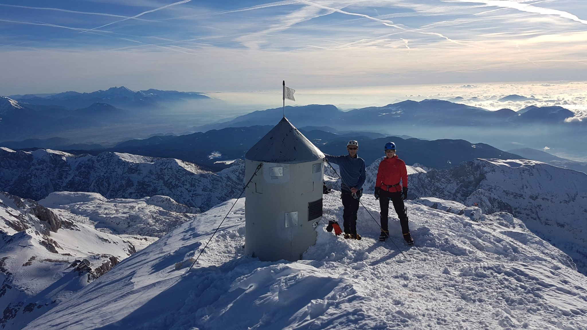 At the top of Triglav, the highest mountain of Slovenia
