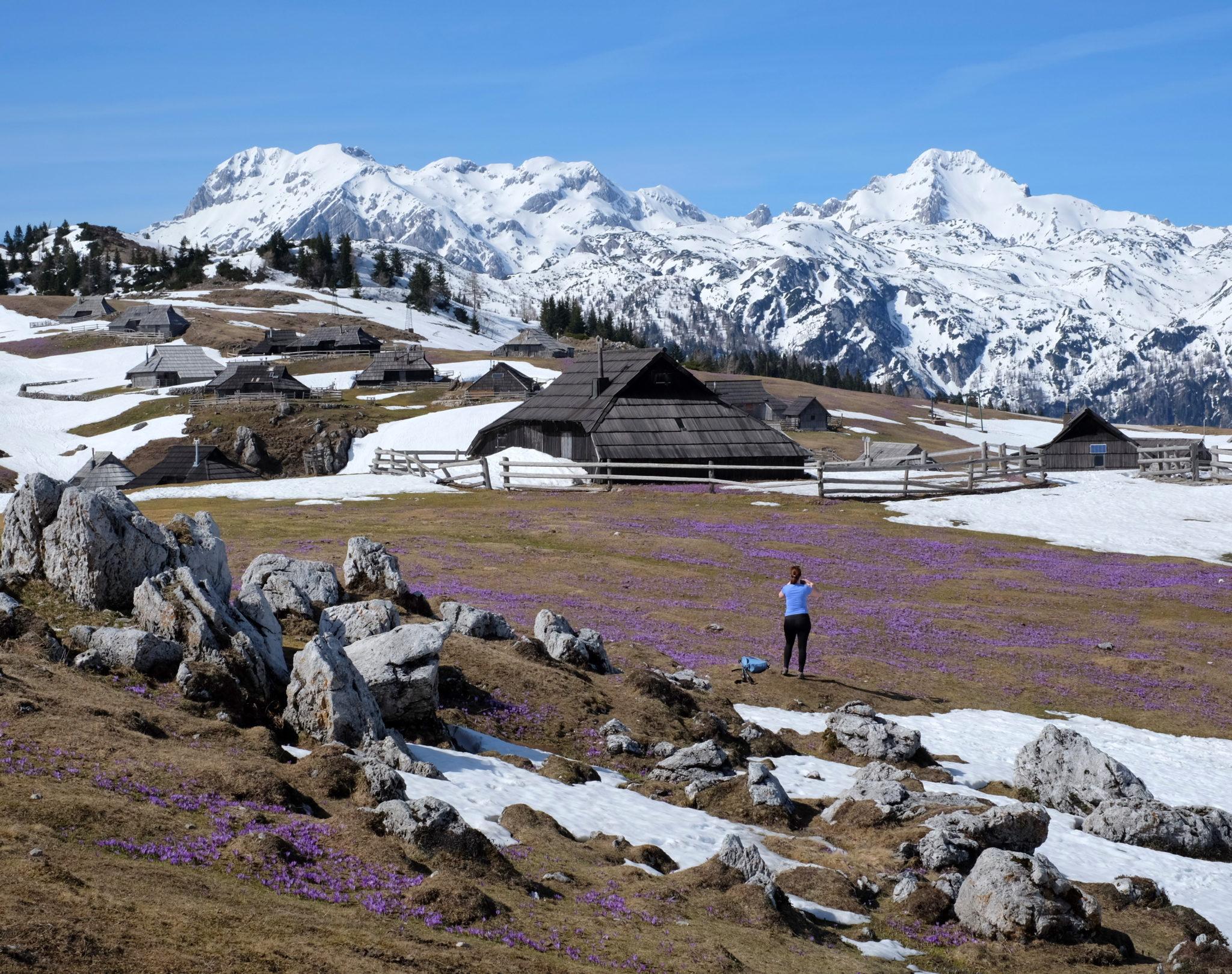 Velika Planina in spring, Central Slovenia